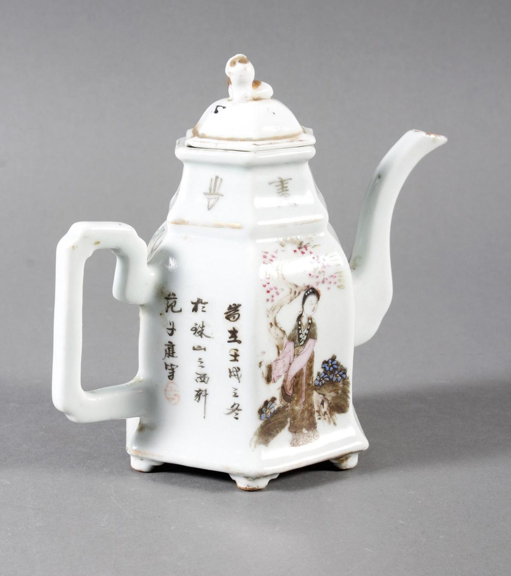 Porzellan Teekann, China, 19. Jahrhundert - Bild 5 aus 15