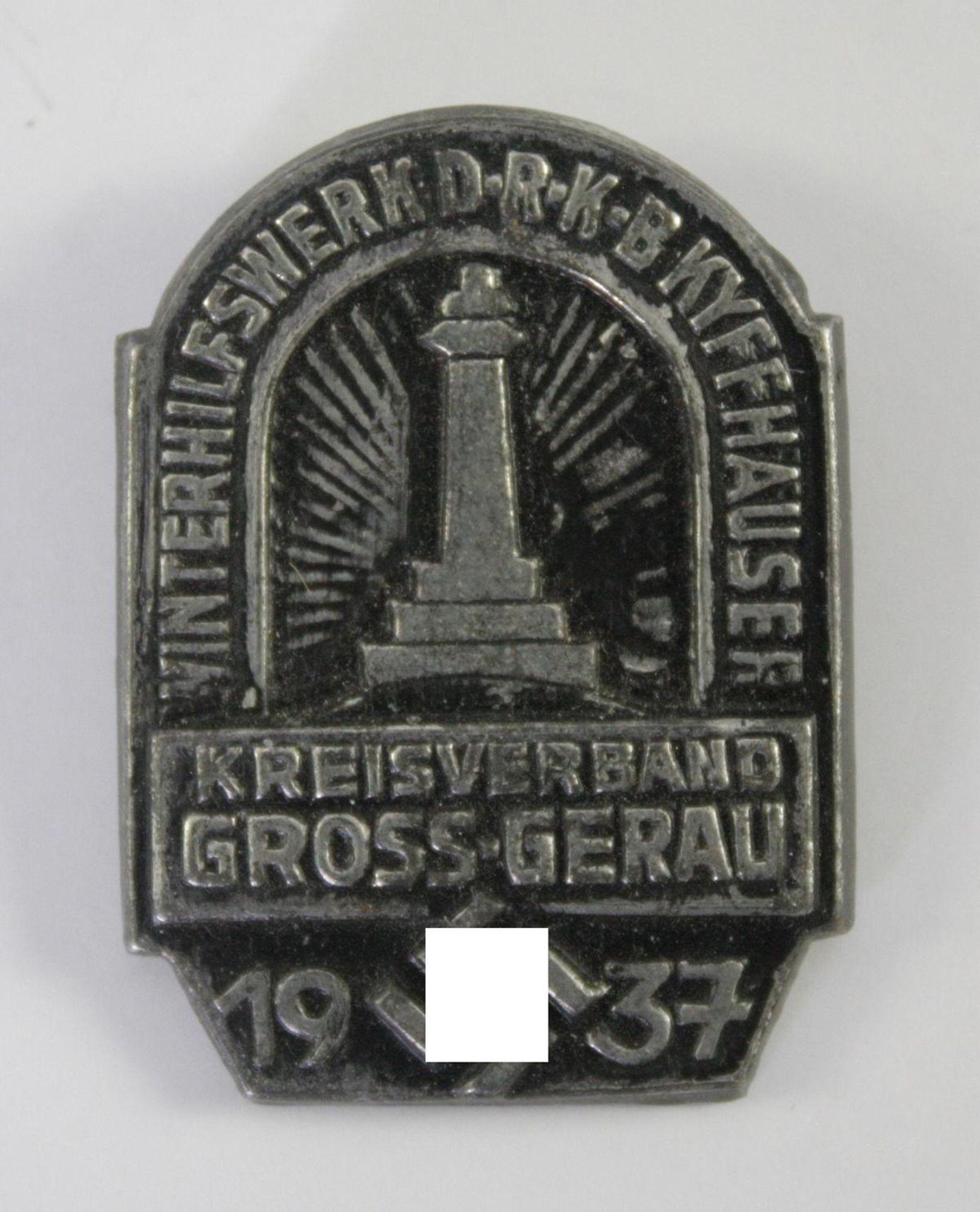Abzeichen WHW DRKB Kyffhäuser - Kreisverband Gross-Gerau 1937