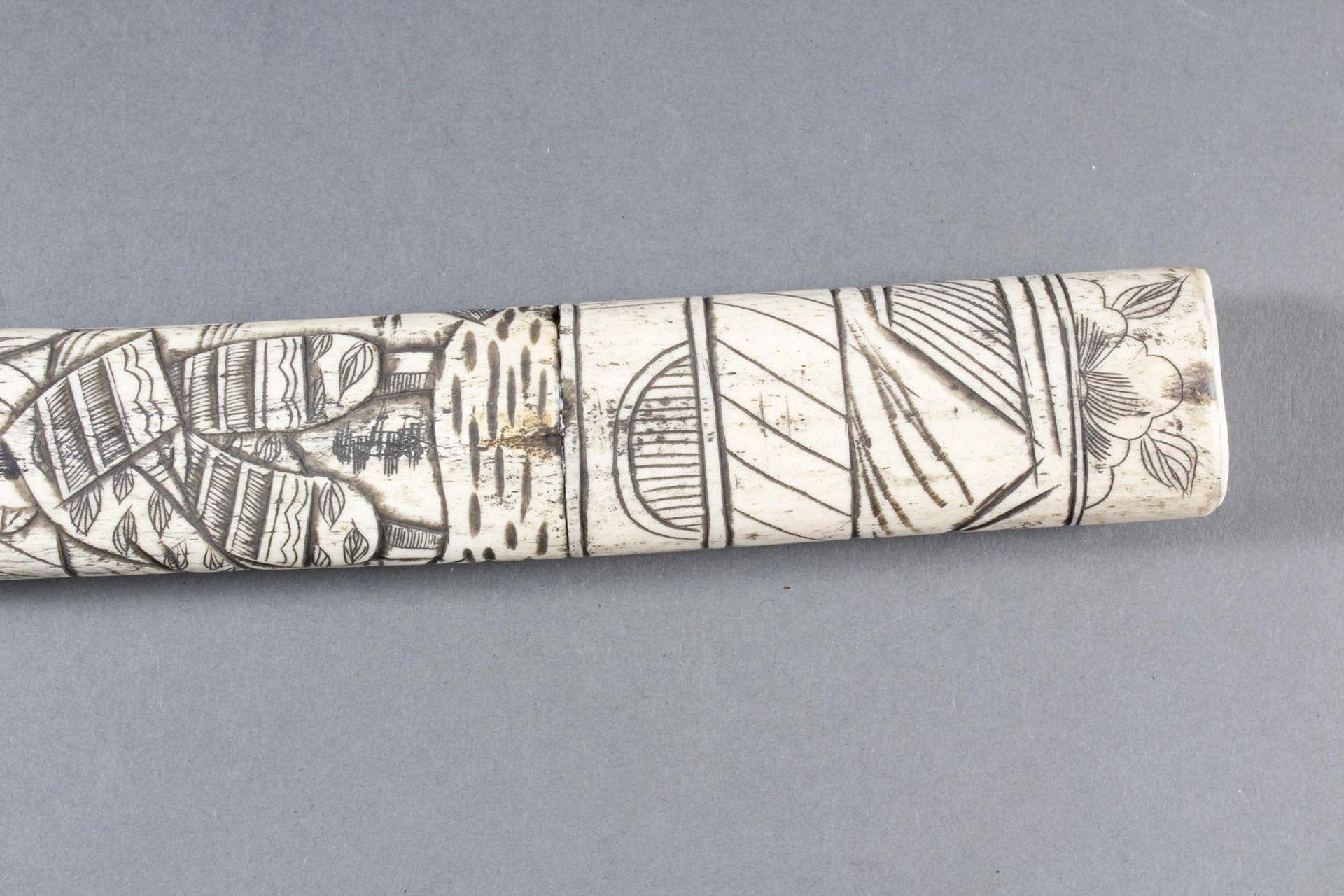 Kurzschwert aus Hirschhorn, Japan Meiji Periode - Bild 10 aus 12