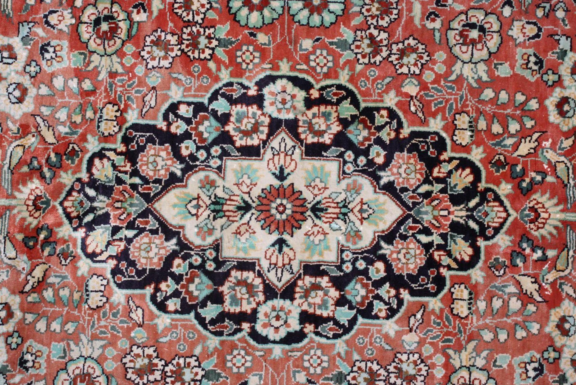 Kaschmir, Seidenteppich - Bild 2 aus 4