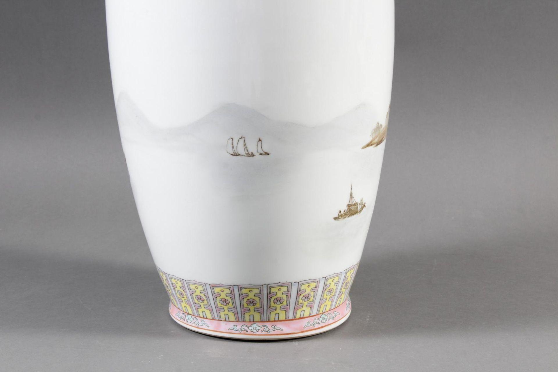 Porzellan Bodenvase, China 20. Jahrhundert - Bild 5 aus 12