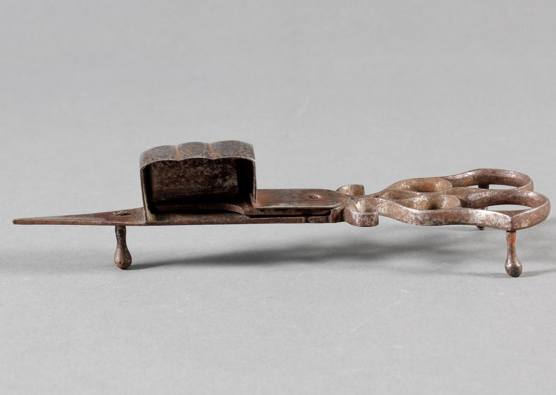 Eisen-Dochtschere, England 18./19. Jahrhundert - Bild 2 aus 6