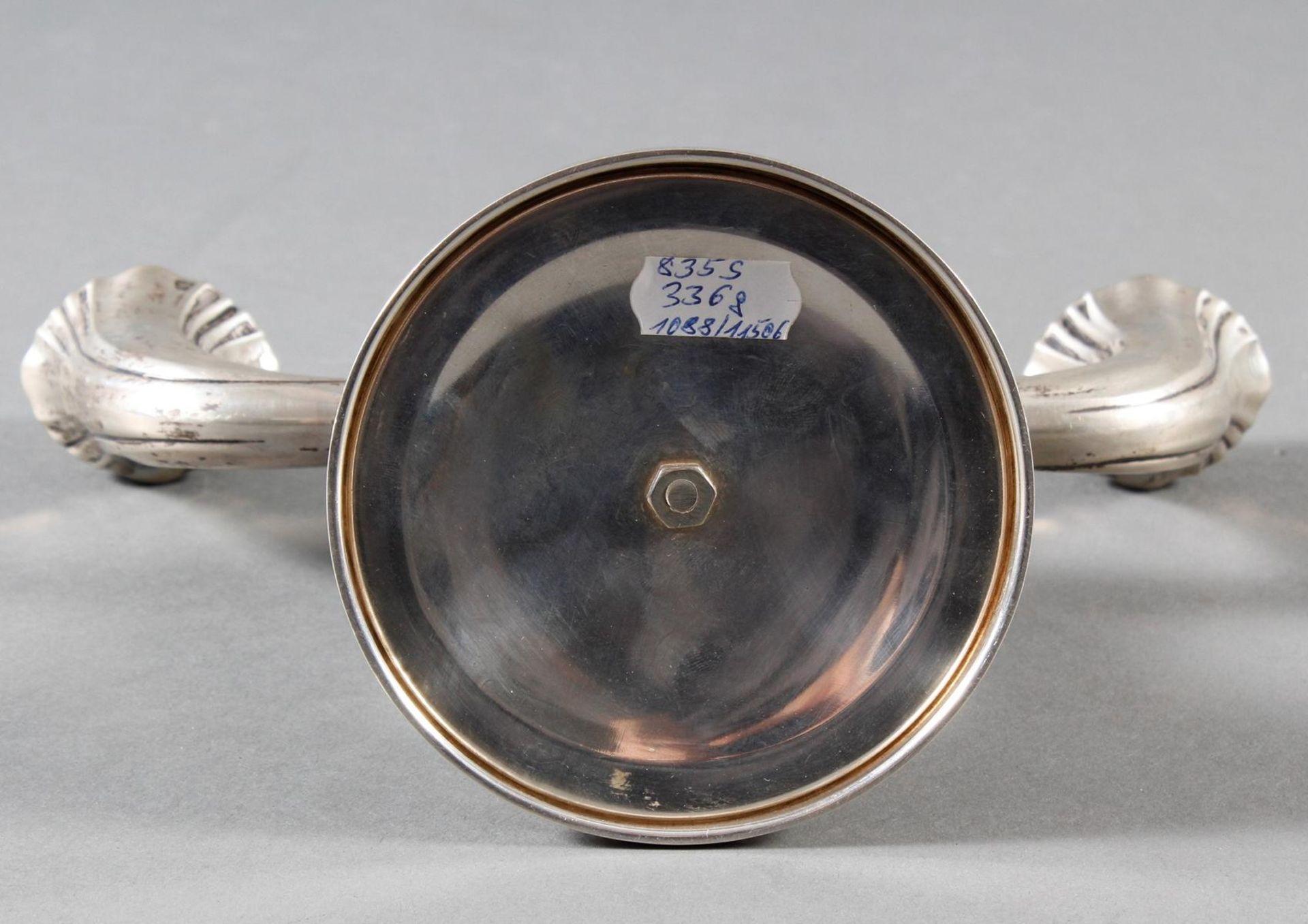 Zweiflammiger Silberleuchter, Deutsch um 1900/1920 - Bild 7 aus 8