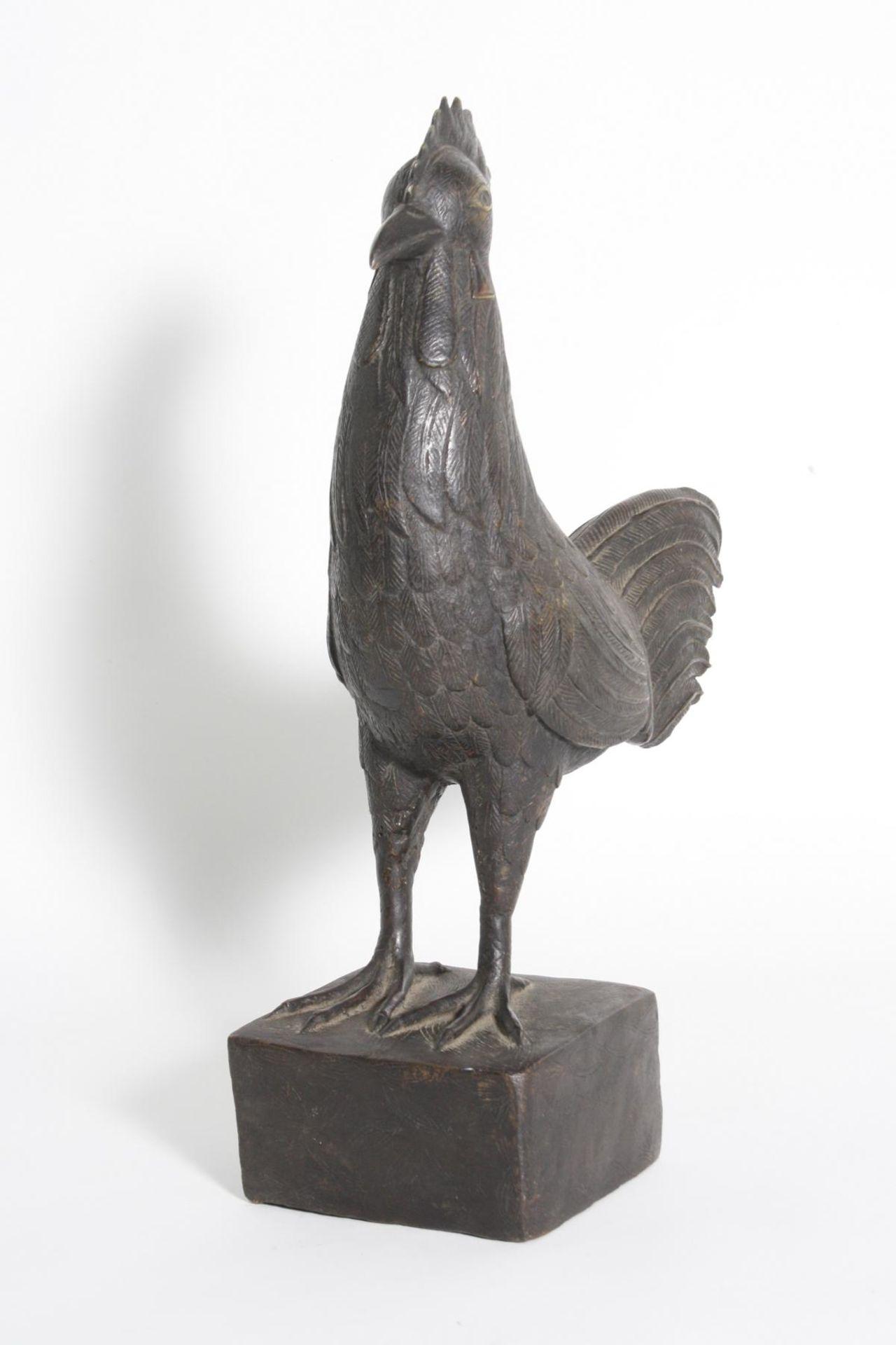 Bronze Hahn, Benin, Nigeria, 1. Hälfte 20. Jh. - Bild 2 aus 5