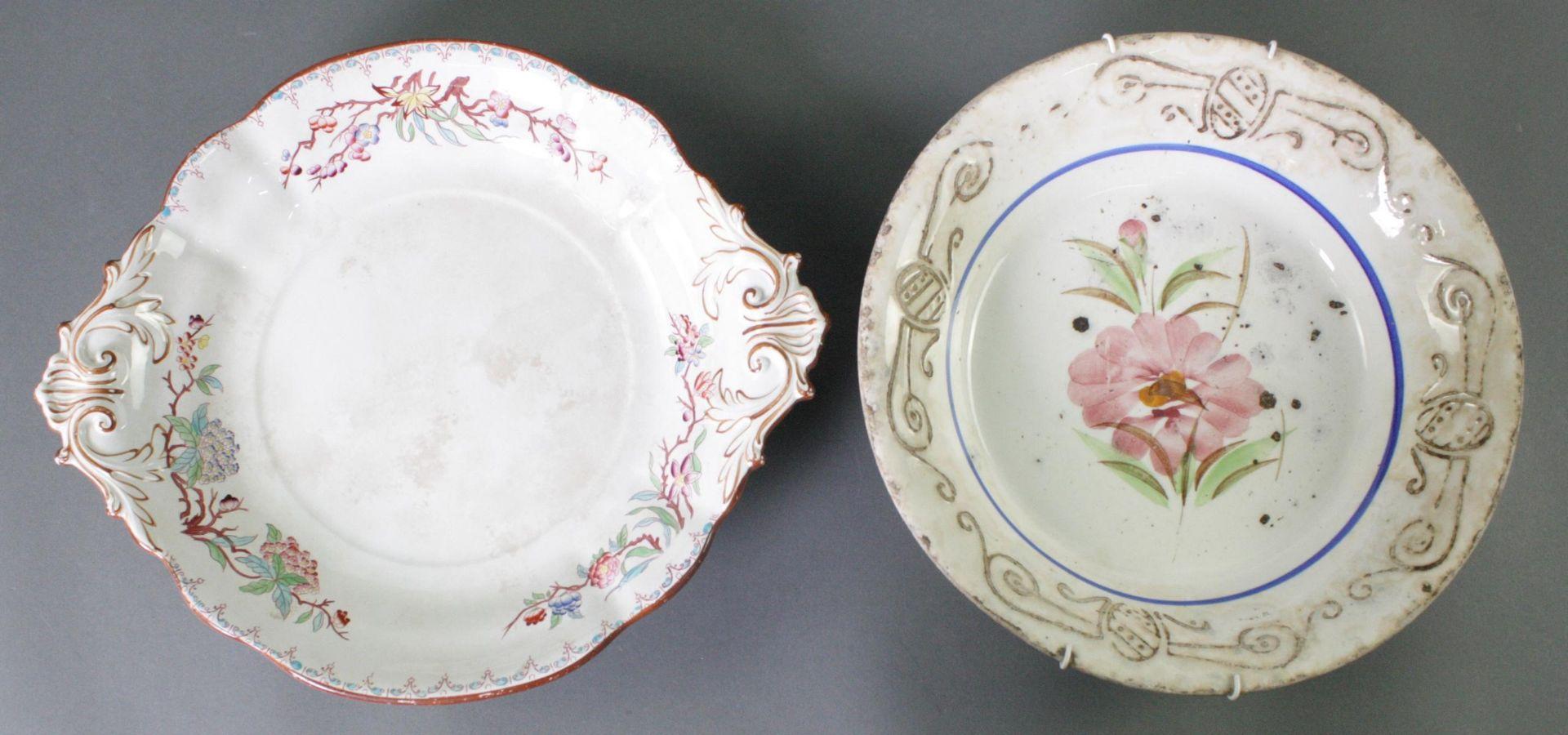 2 Keramikschalen 19. Jahrhundert