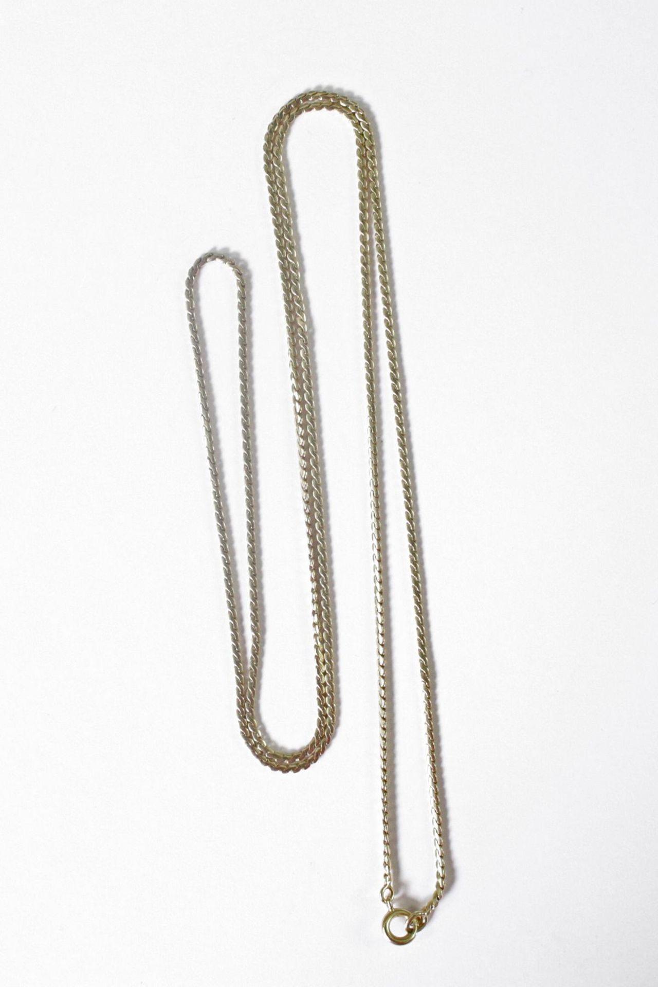Halskette 14 Karat Gelbgold - Bild 2 aus 2