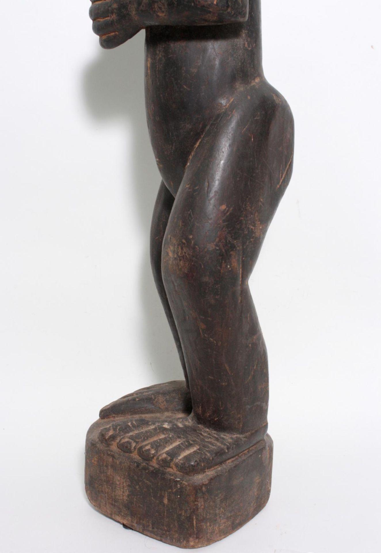 "Große Figur, wohl ""Eshu"", Yoruba, Nigeria , 1. Hälfte 20. Jh. - Bild 11 aus 11"