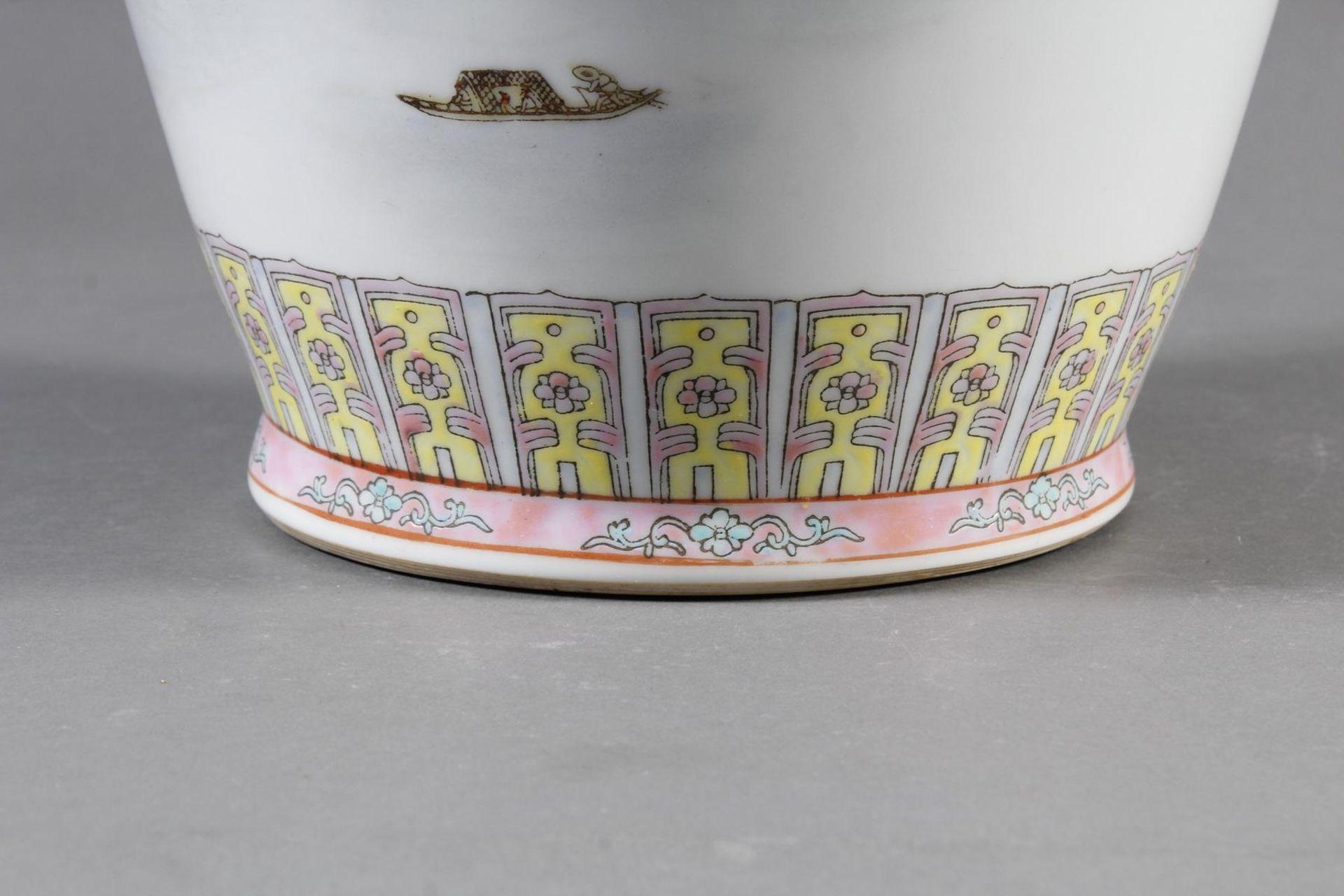Porzellan Bodenvase, China 20. Jahrhundert - Bild 8 aus 12