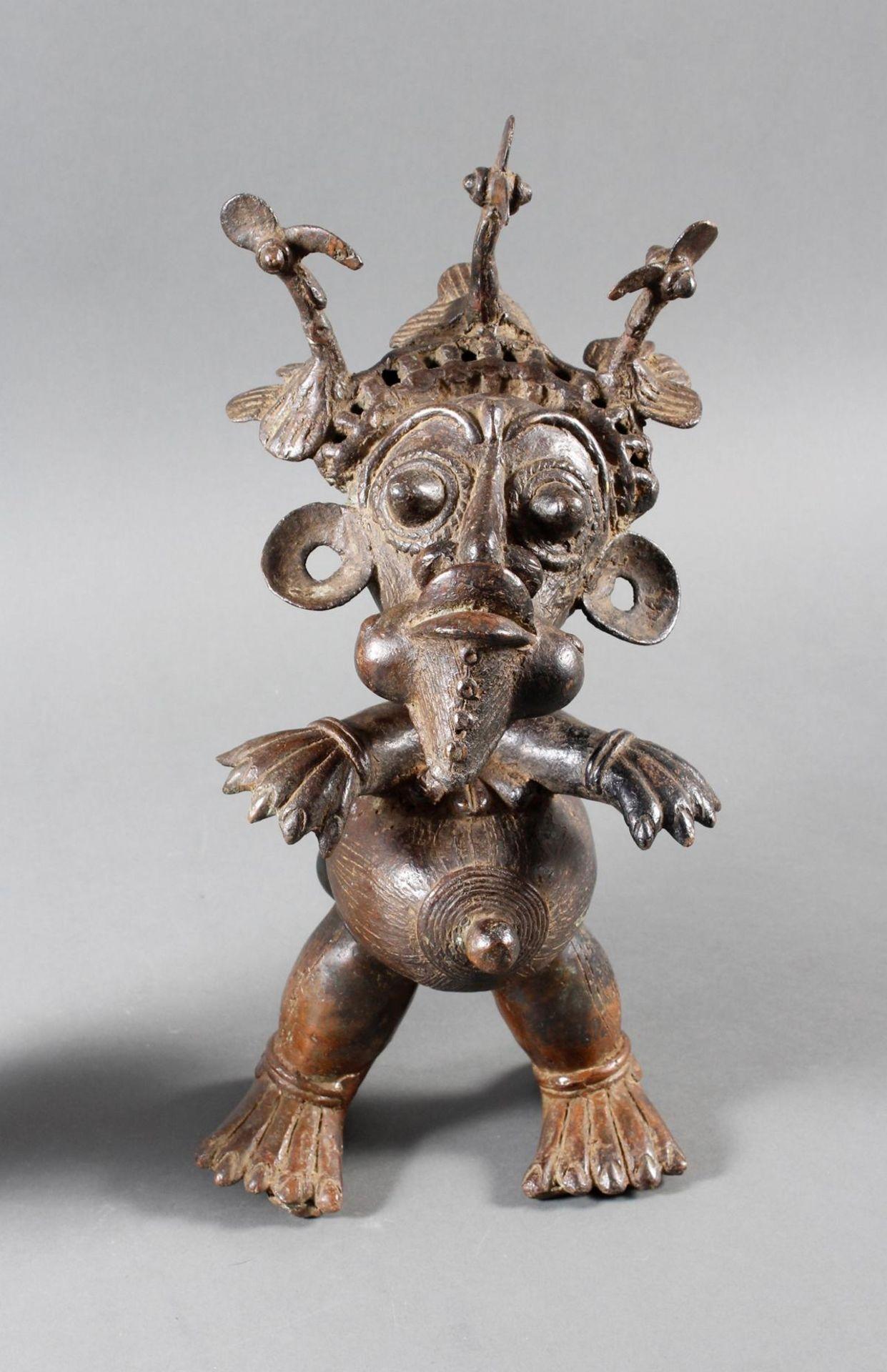 Paar Bronze-Hofzwergenpaar, Bamileke / Kamerun - Bild 2 aus 14