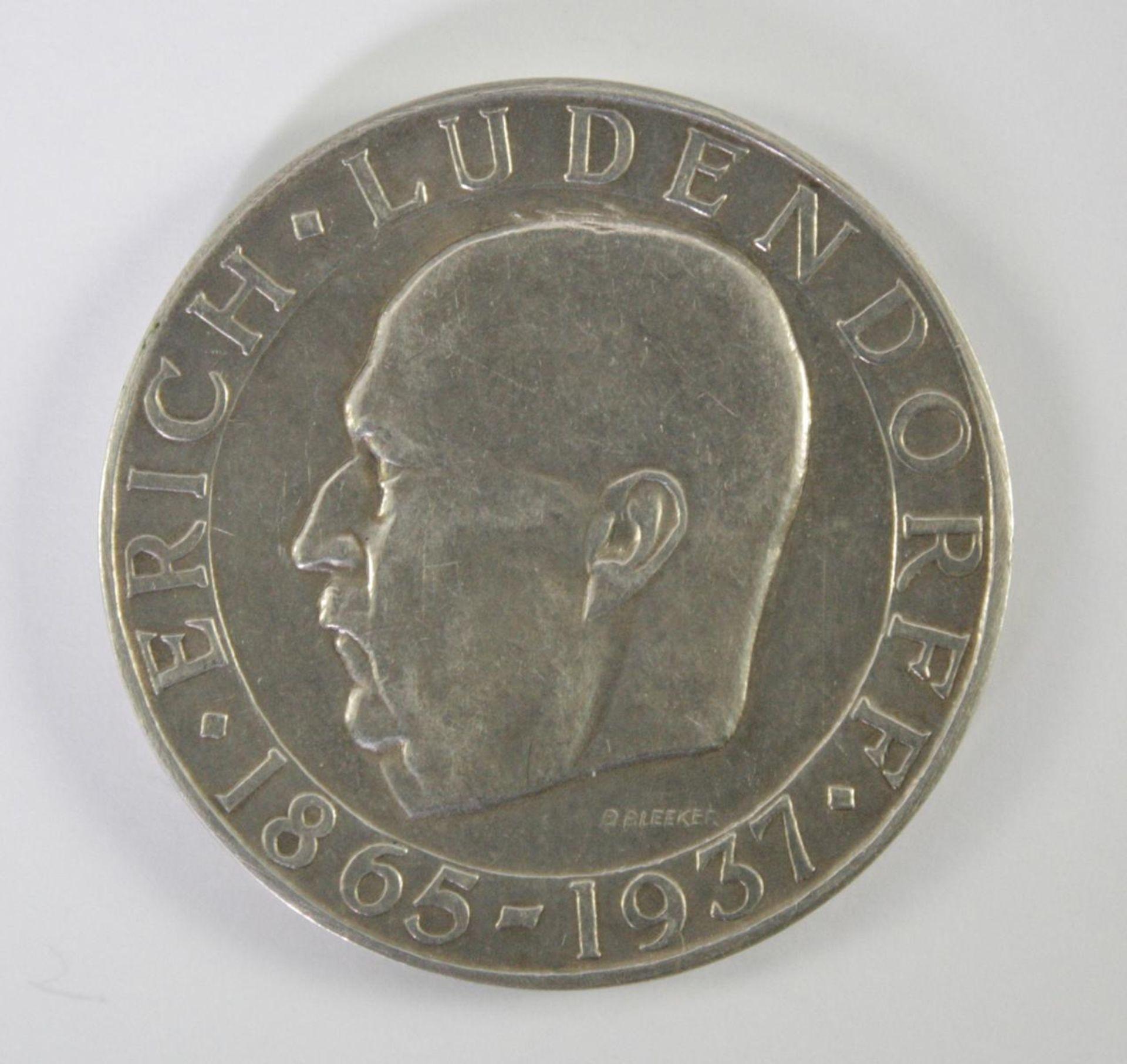 Silbermedaille, Erich Ludendorff 1865-1937