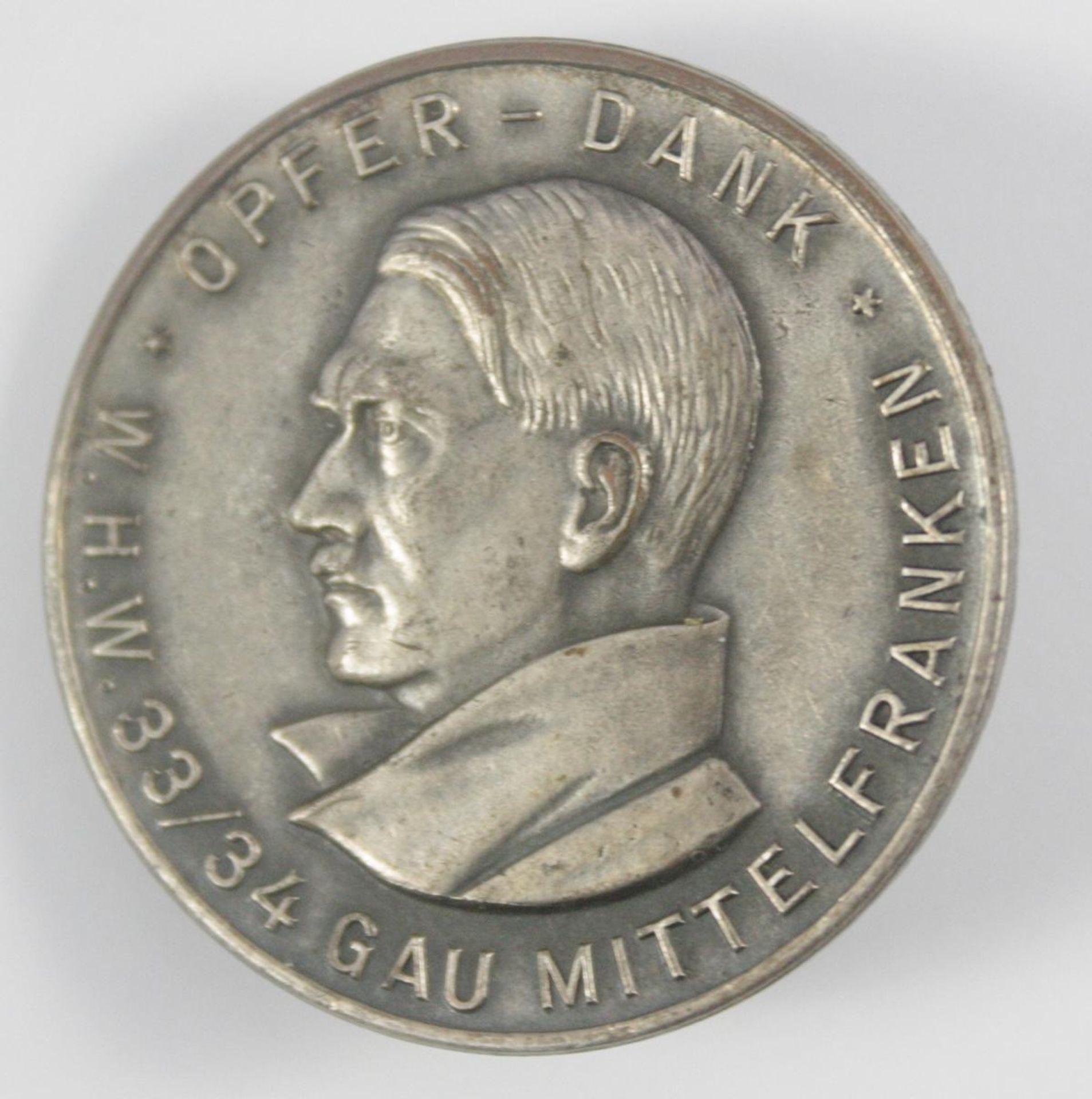 Anstecker, WHW Opfer-Dank 1933/ 34, Gau Mittelfranken