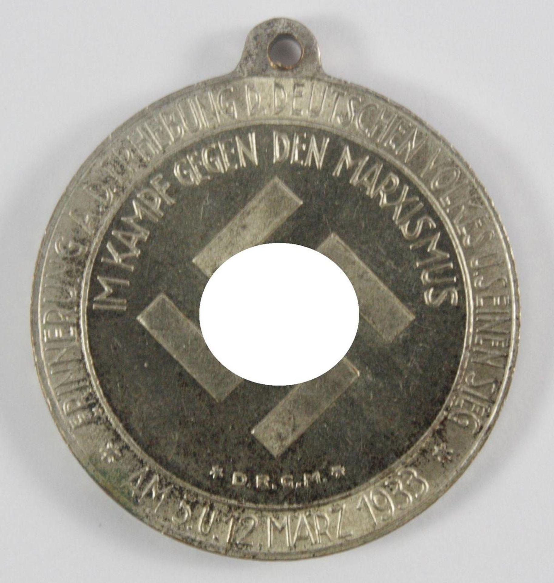 Medaille: Deutsche Nationale Erhebung 1933 - Bild 2 aus 2