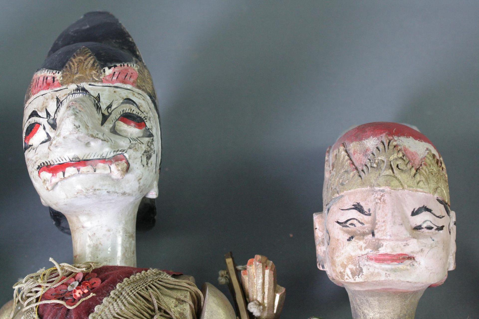 Konvolut indonesische Stabpuppen, Wayang-Golek - Bild 3 aus 6