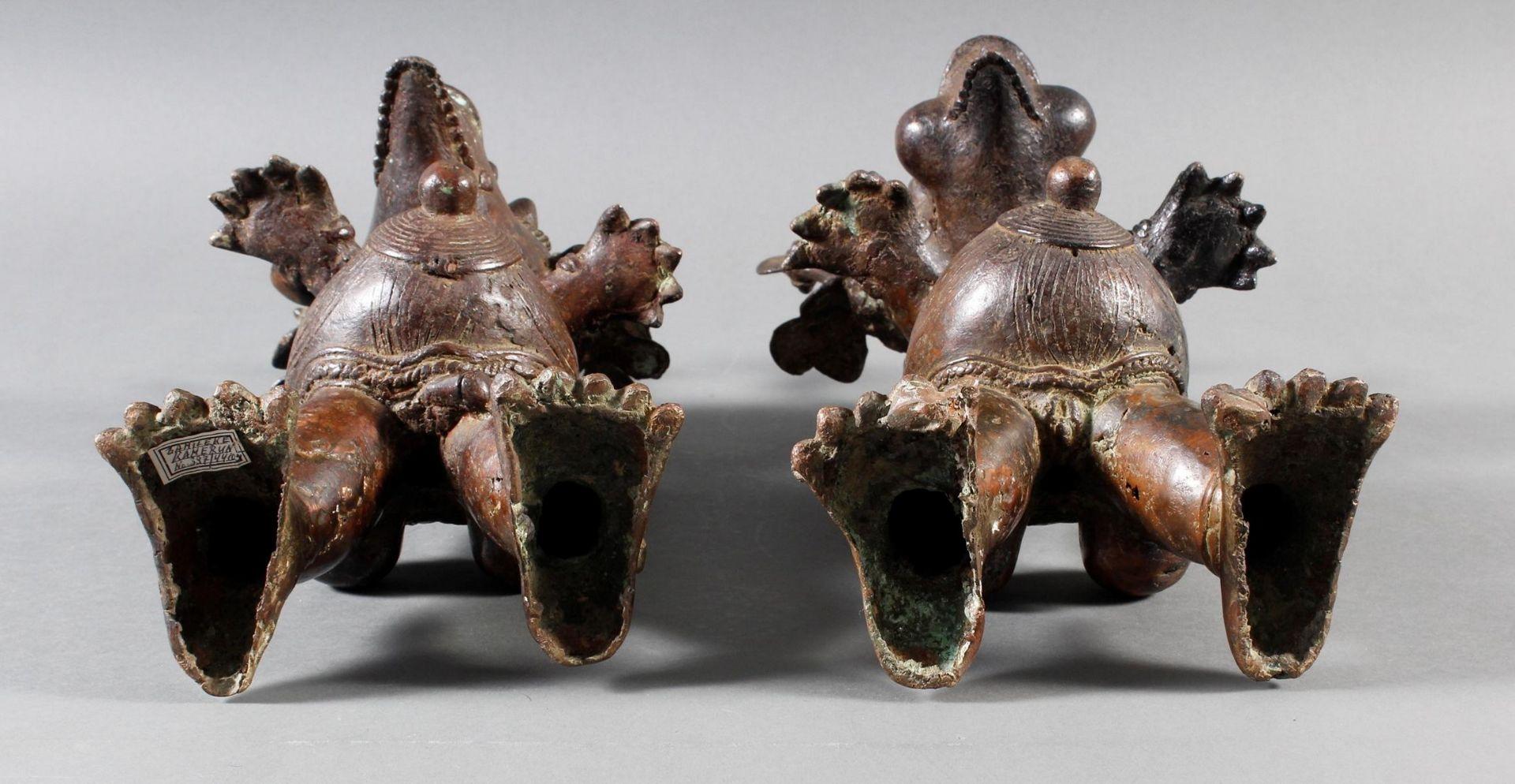 Paar Bronze-Hofzwergenpaar, Bamileke / Kamerun - Bild 14 aus 14