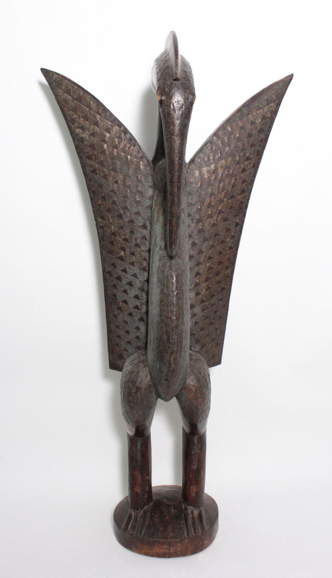 """Imposante Vogelfigur, """"Calao"""", Senufo, Elfenbeinküste, 1. Hälfte 20. Jh."""