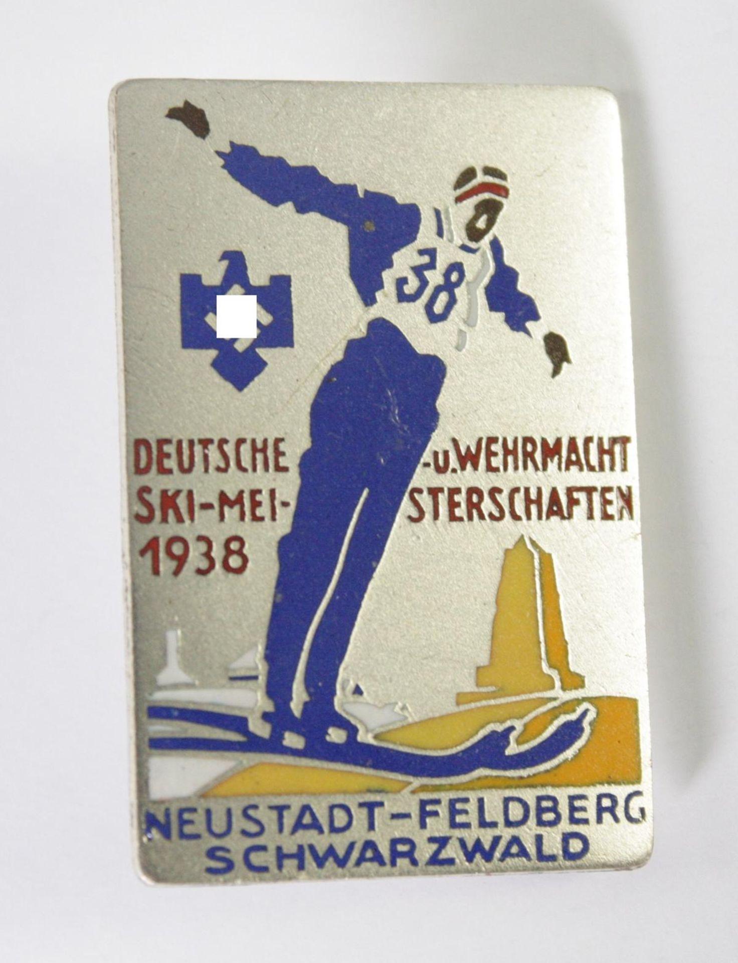 Abzeichen: Deutsche u. Wehrmacht Skimeisterschaft 1938, Neustadt-Feldberg