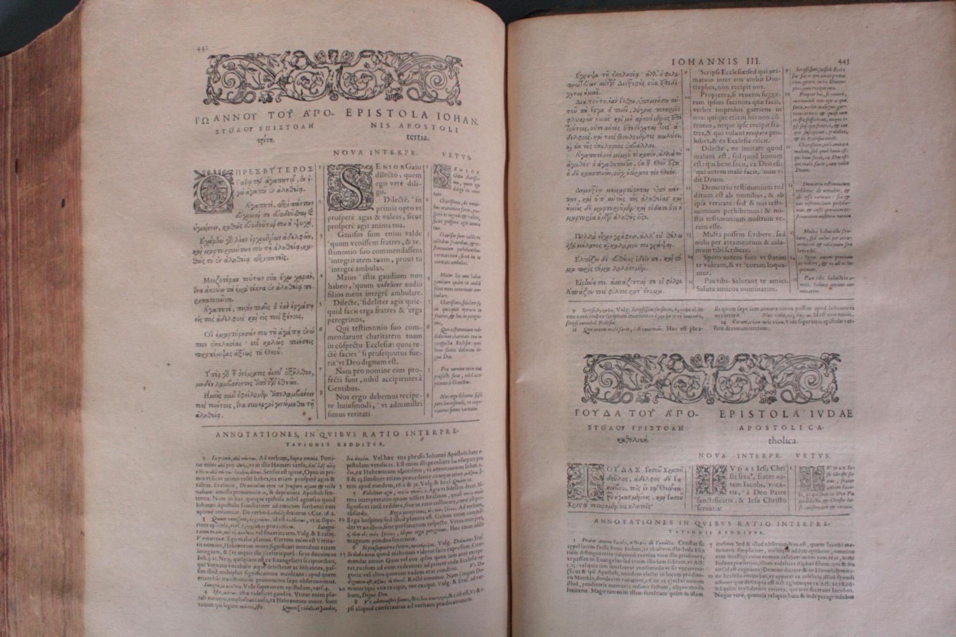 Griechische-Lateinische Bibel, Novum Testamentum 1582 - Bild 19 aus 23