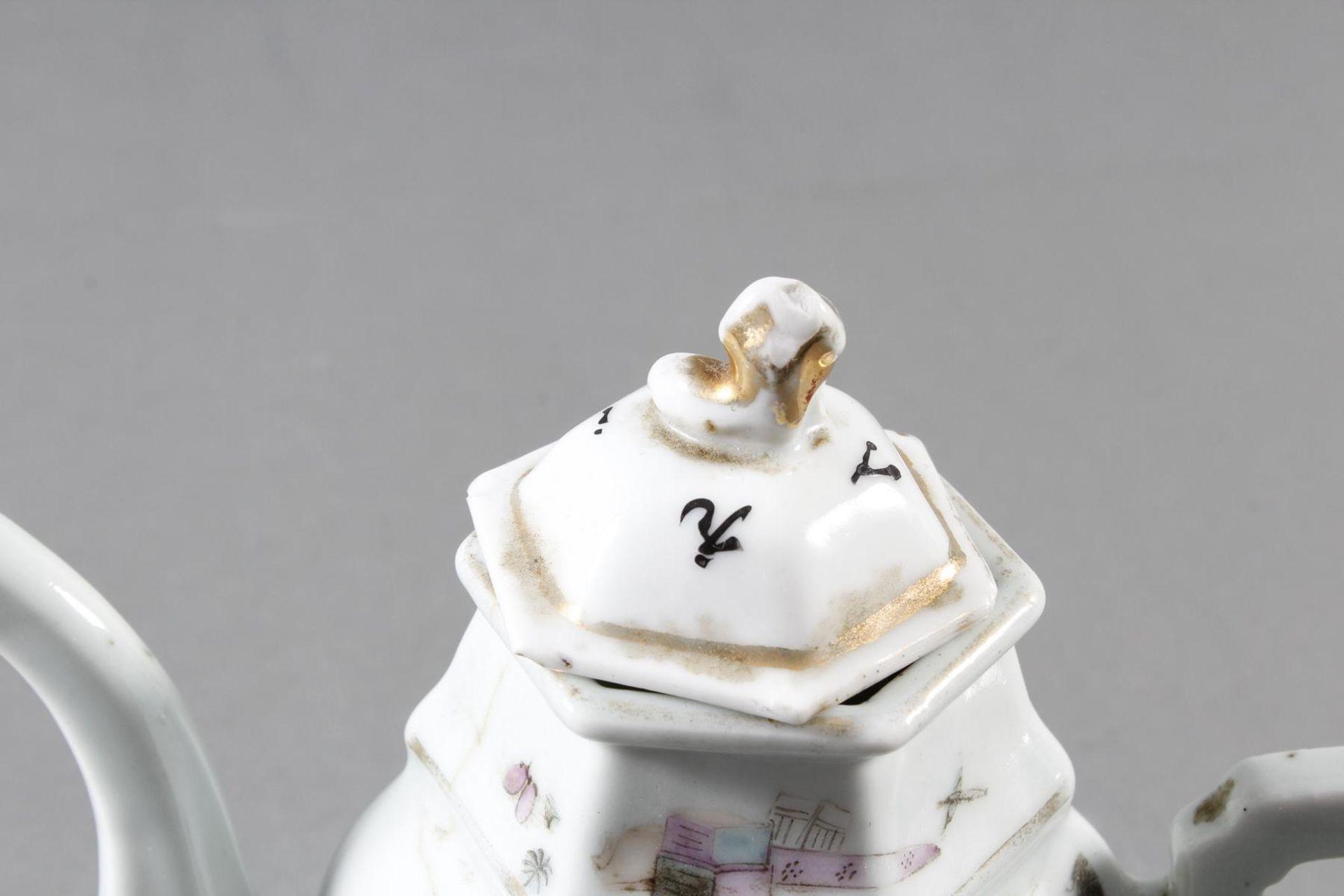 Porzellan Teekann, China, 19. Jahrhundert - Bild 11 aus 15