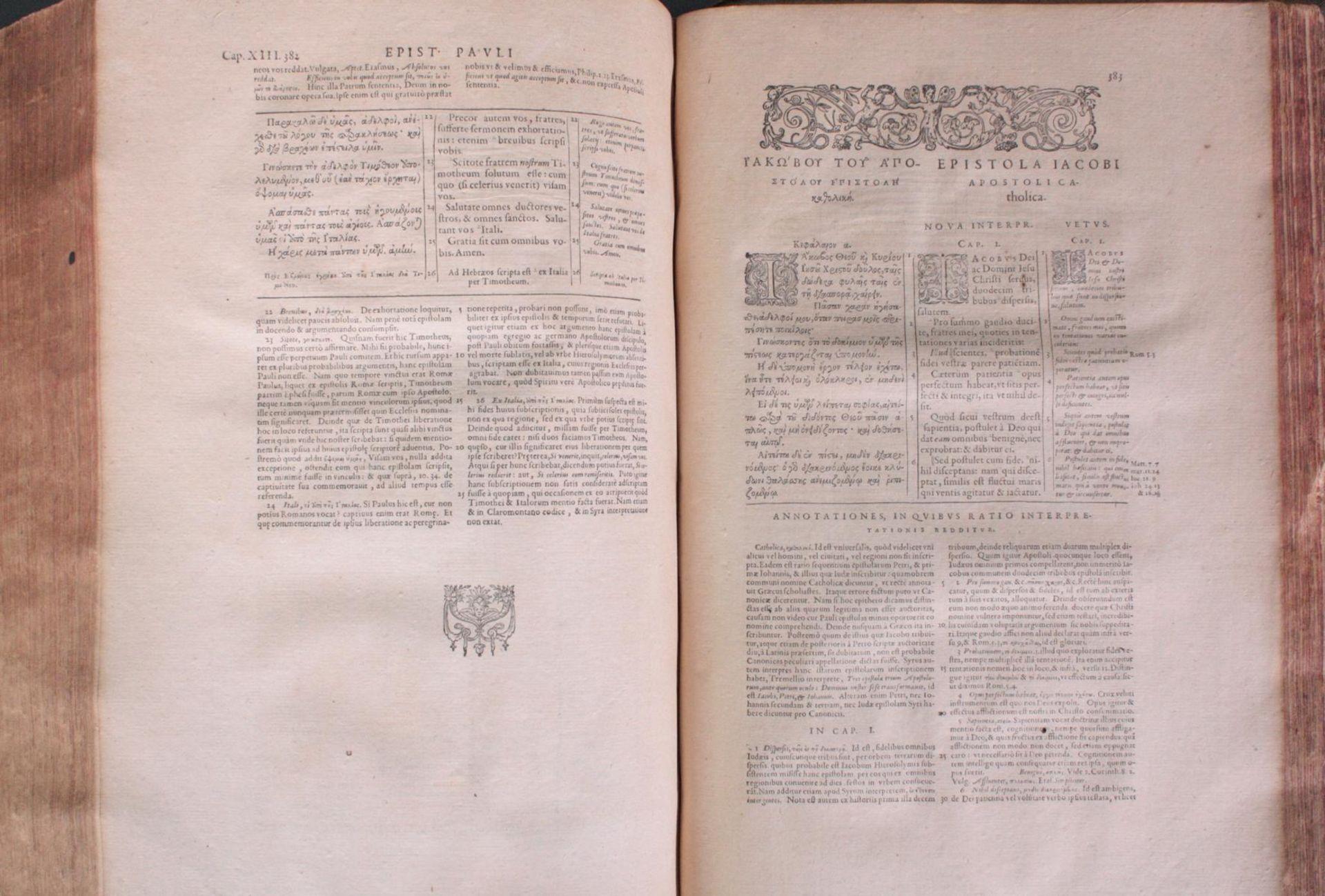 Griechische-Lateinische Bibel, Novum Testamentum 1582 - Bild 16 aus 23