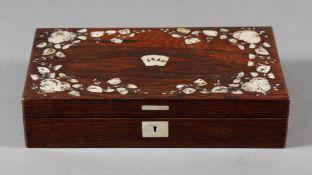 Holzschatulle, wohl deutsch, Mitte 19. Jahrhundert