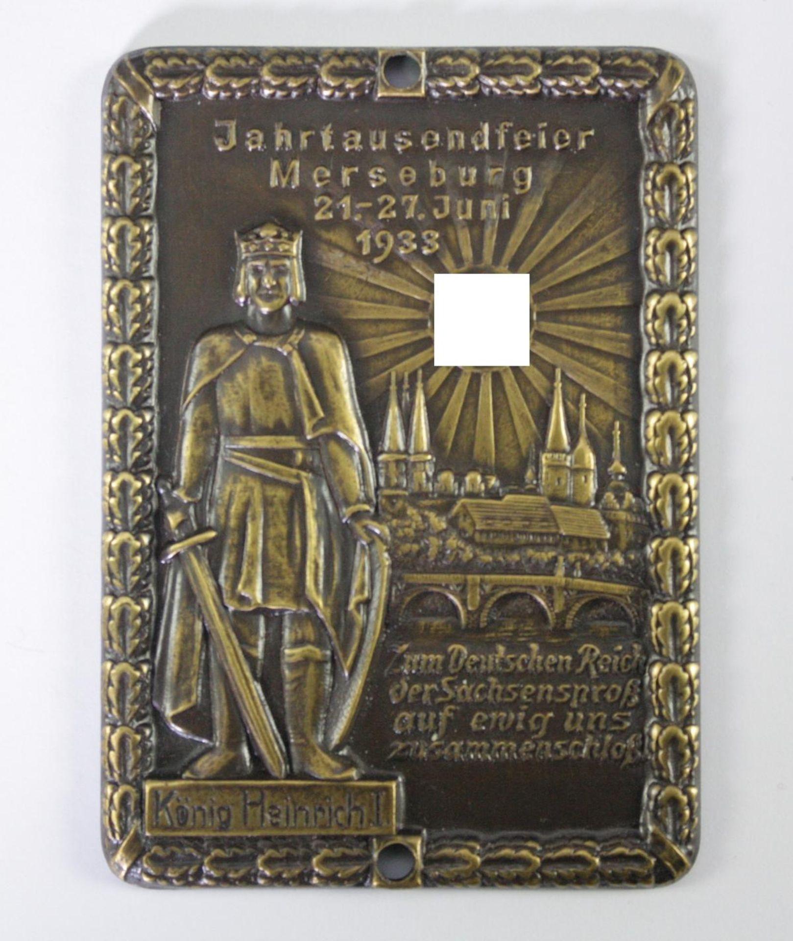 Plakette: Jahrtausendfeier Merseburg 1933