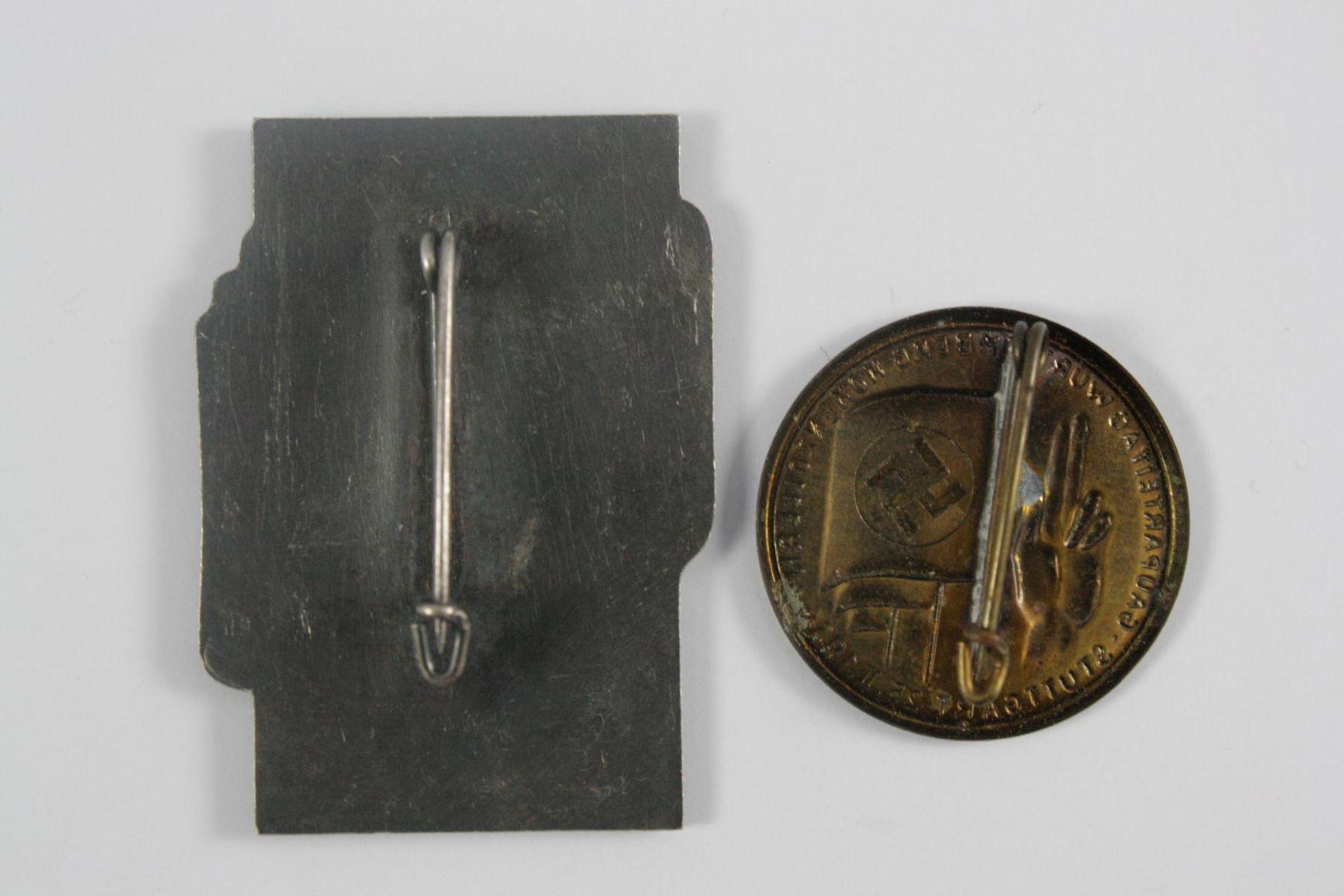 2 Tagungsabzeichen: Gauparteitag Württemberg Hohenzollern, Stuttgart 1934 - Bild 2 aus 2
