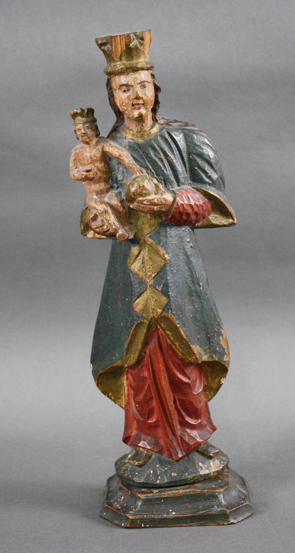 Madonna mit Kind und Weltkugel, 18. Jahrhundert