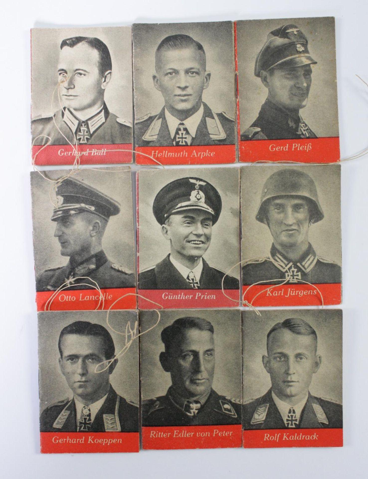 9 Hefte / WHW Spendenbelege: Tag der Wehrmacht - Helden der Wehrmacht