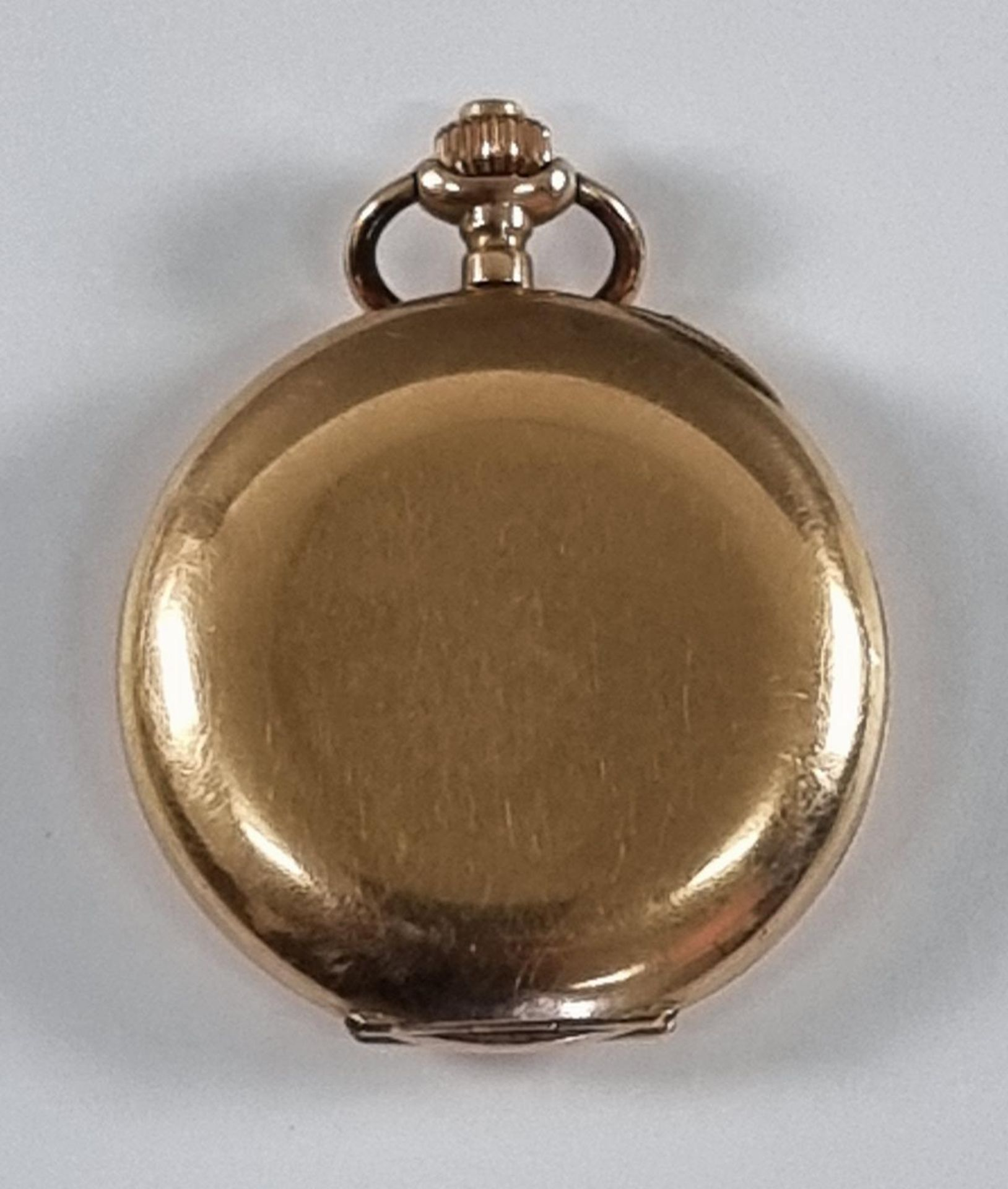 Goldene Damentaschenuhr, 14 Karat Gelbgold