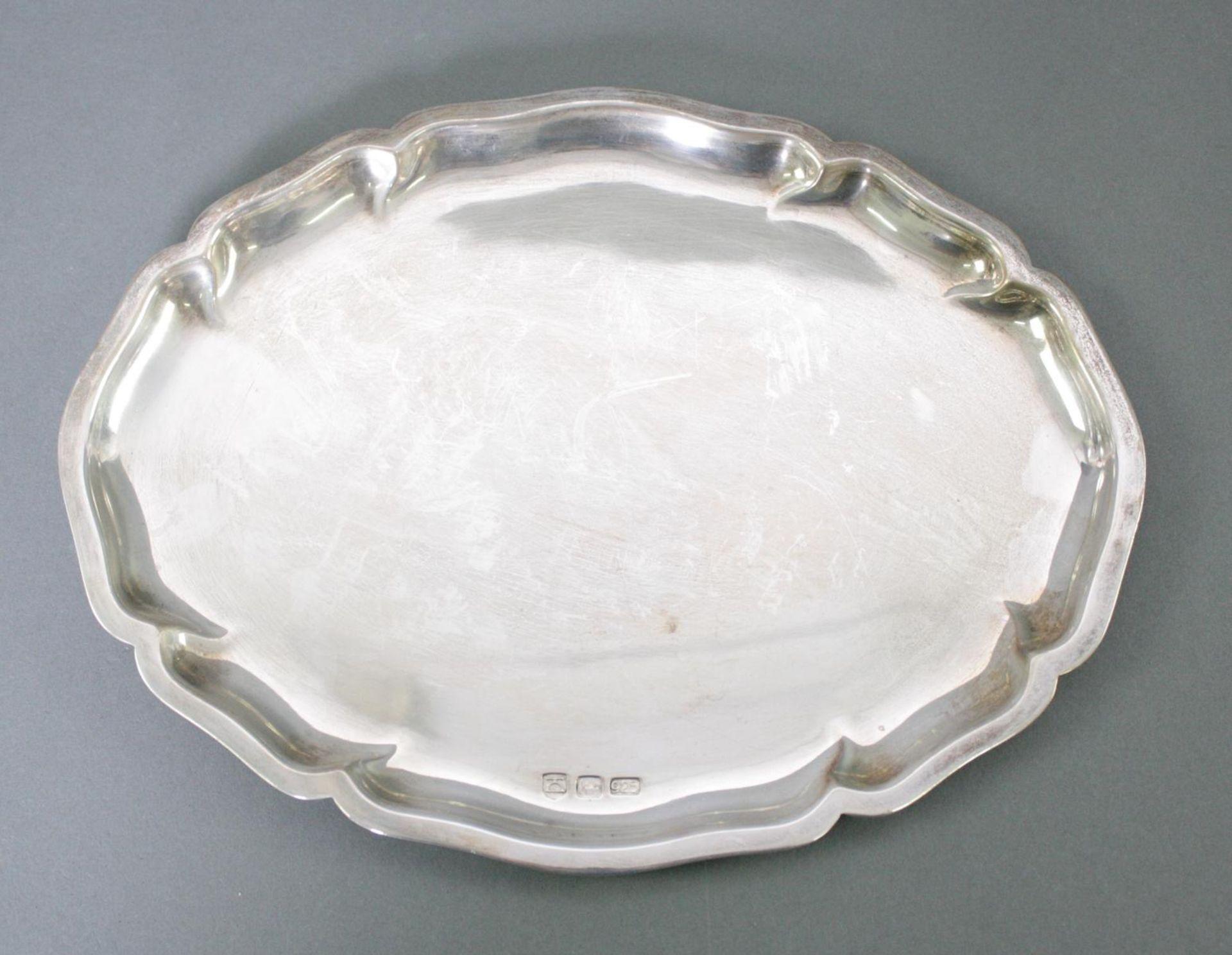 Ovale Silberplatte, 925 Silber