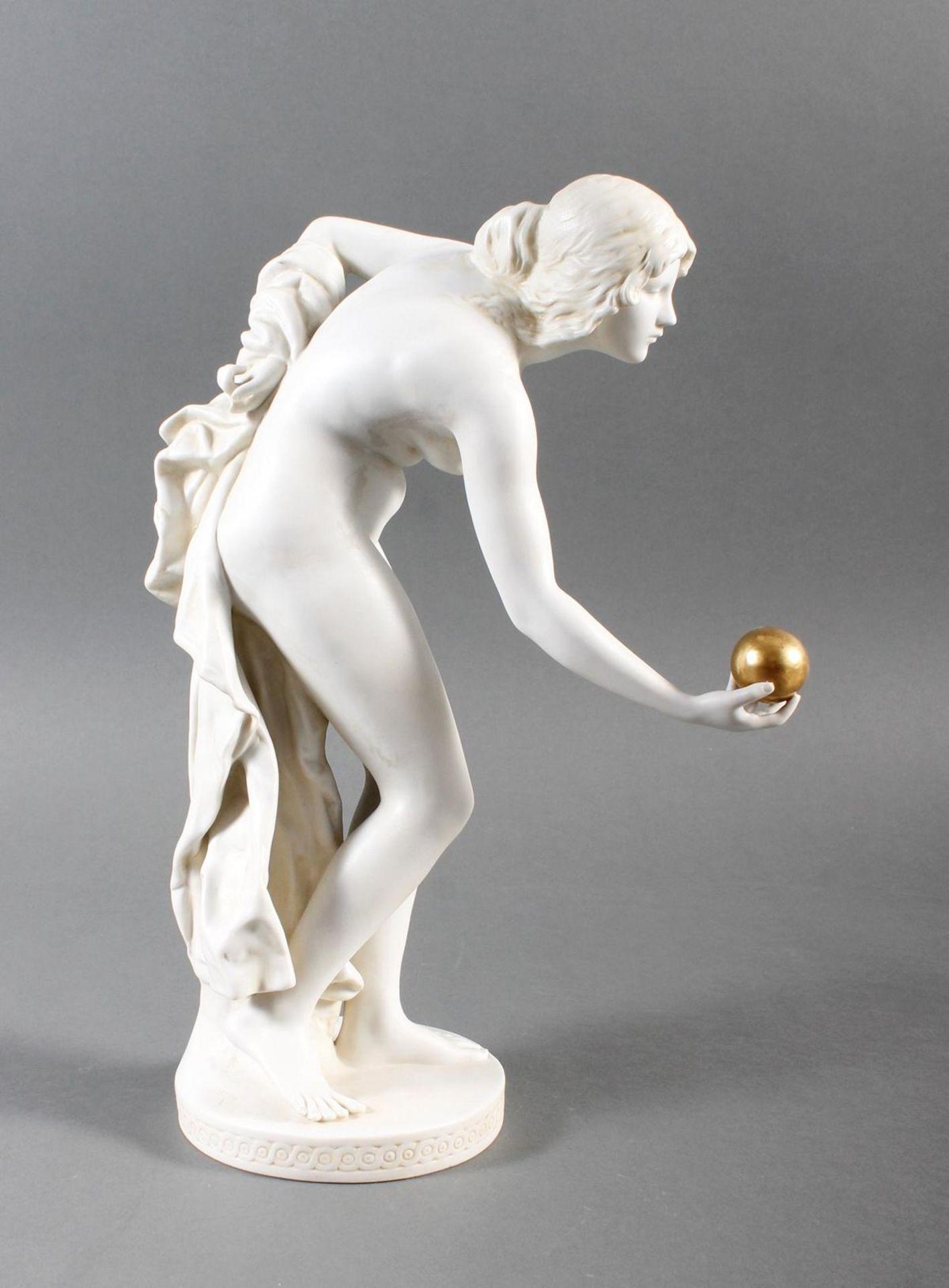 Porzellanskulptur, Kugelspielerin, Scheibe-Alsbach - Bild 3 aus 15