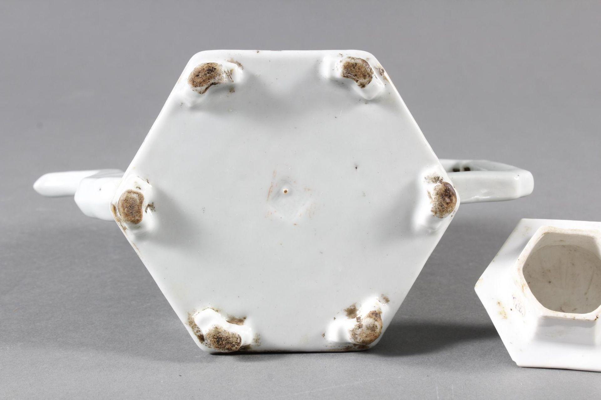 Porzellan Teekann, China, 19. Jahrhundert - Bild 14 aus 15