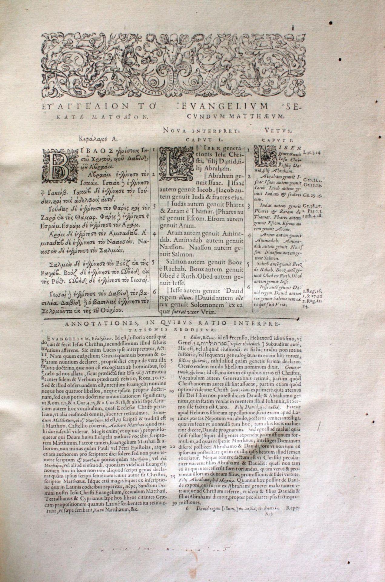 Griechische-Lateinische Bibel, Novum Testamentum 1582 - Bild 7 aus 23