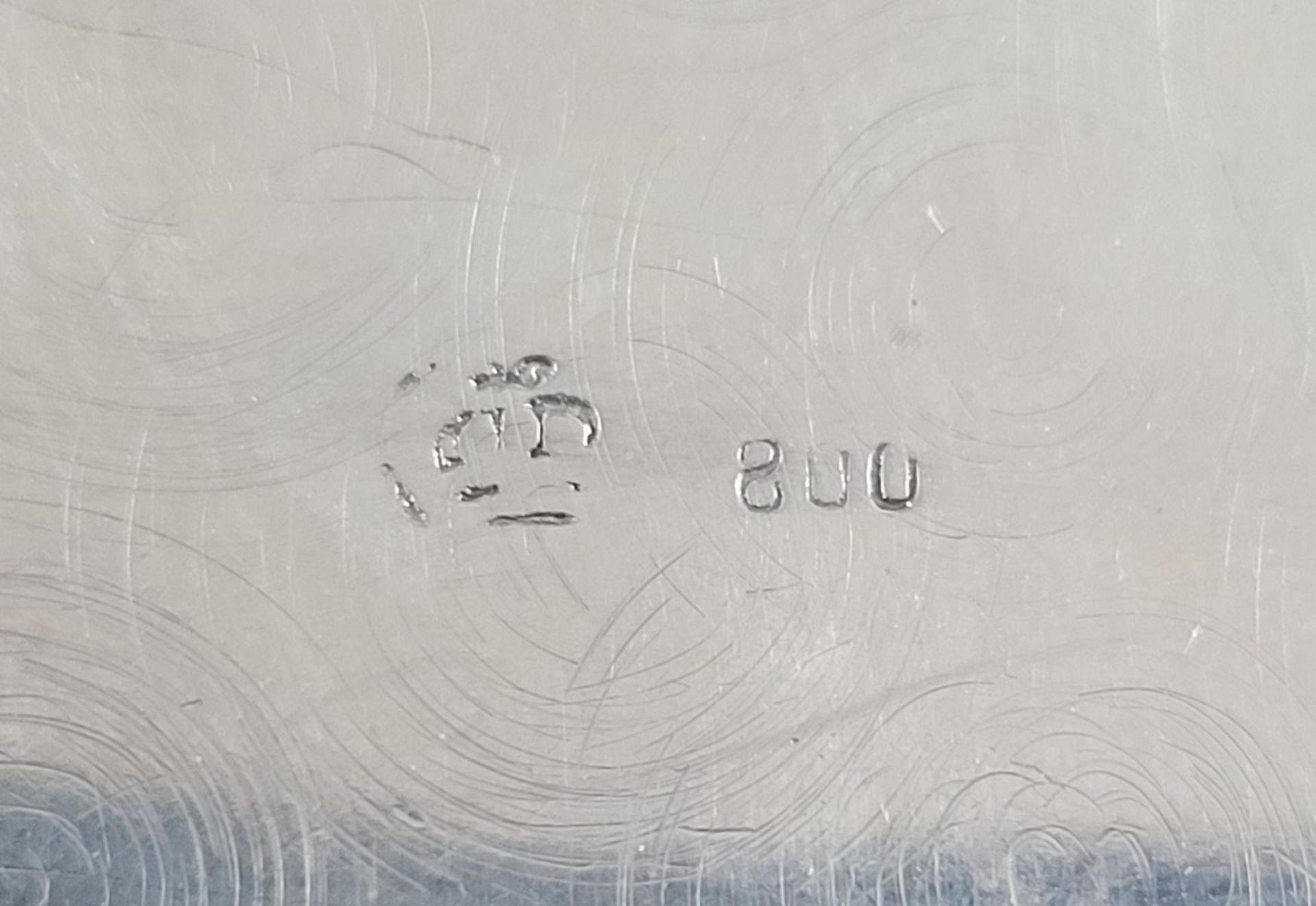Silberne Deckeldose 800er Silber um 1900 - Bild 4 aus 4