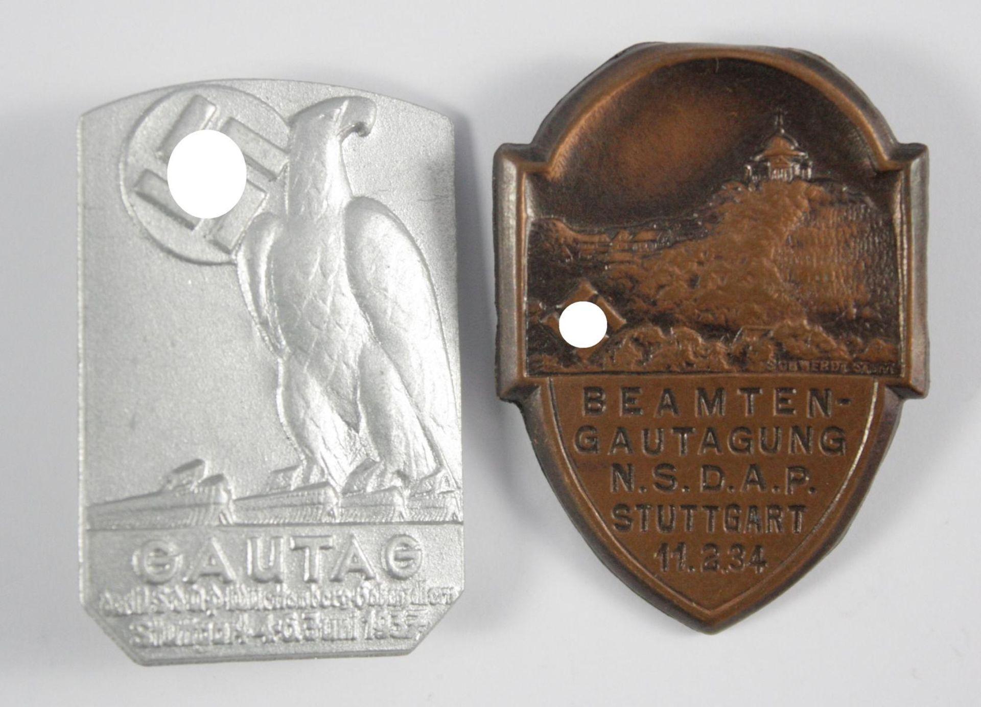 2 Veranstaltungsabzeichen Stuttgart 1934 / 1937