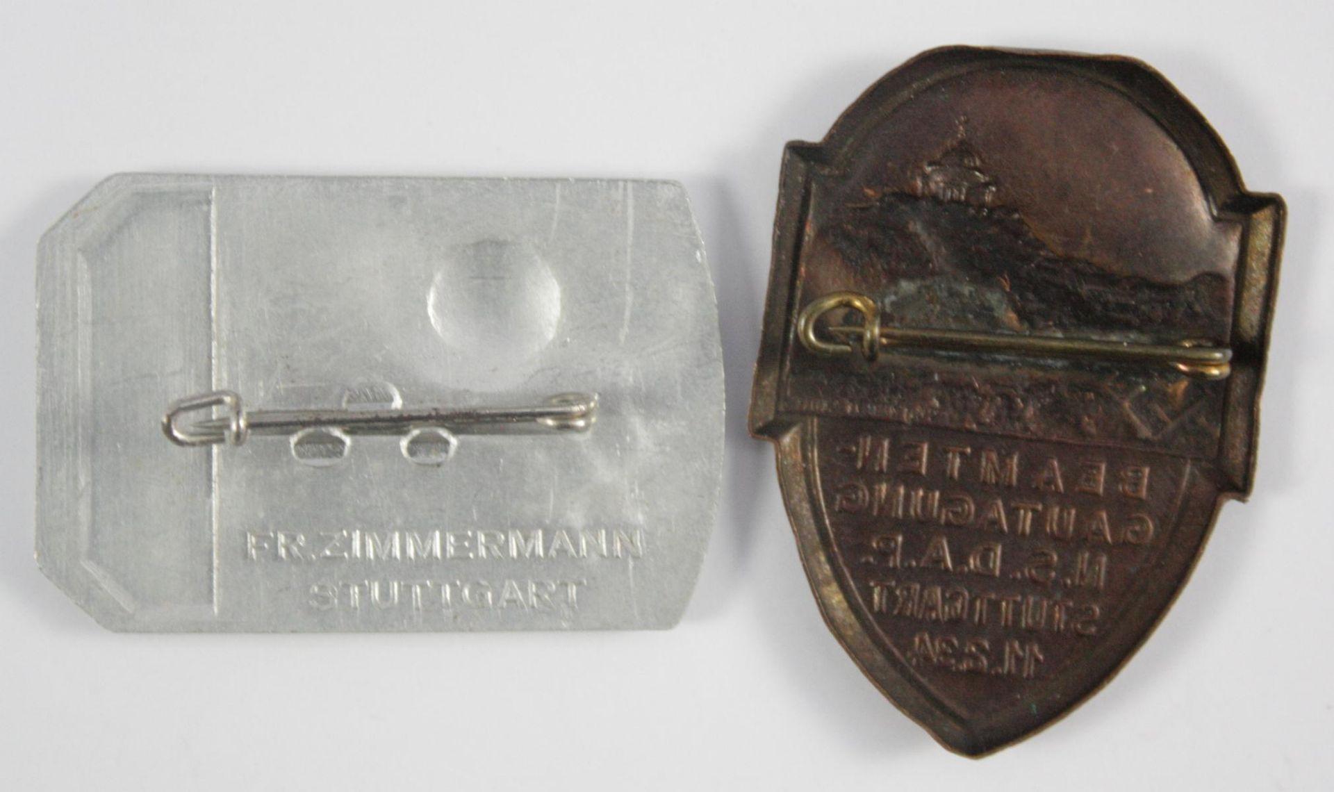 2 Veranstaltungsabzeichen Stuttgart 1934 / 1937 - Bild 2 aus 2