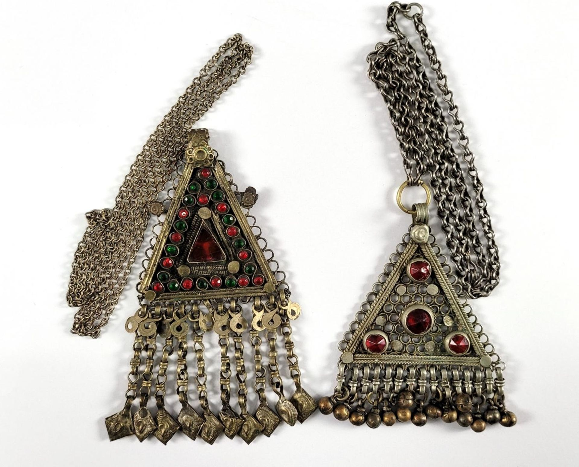 2 orientalische Halsketten, 19./20. Jahrhundert