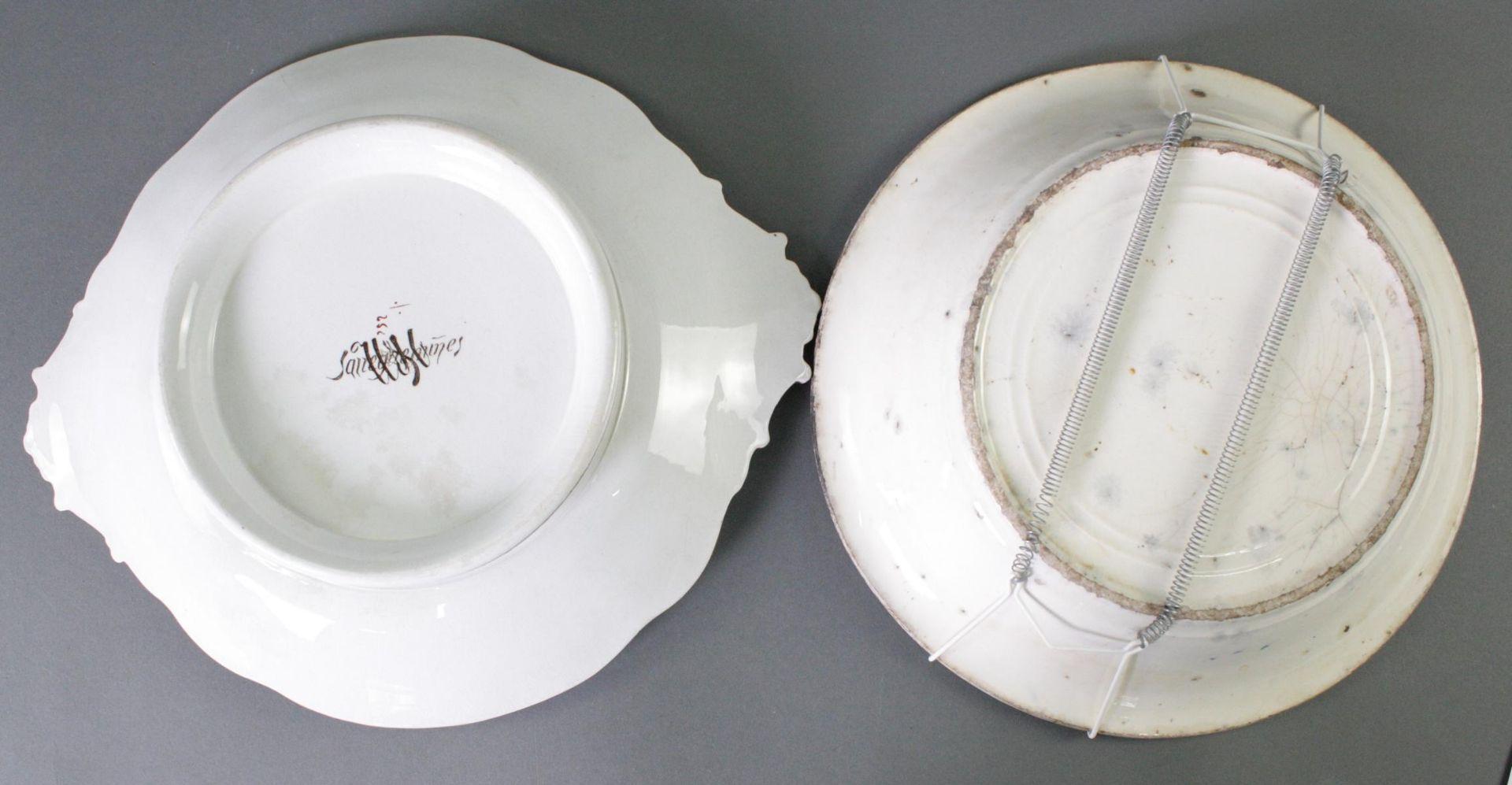 2 Keramikschalen 19. Jahrhundert - Bild 3 aus 3