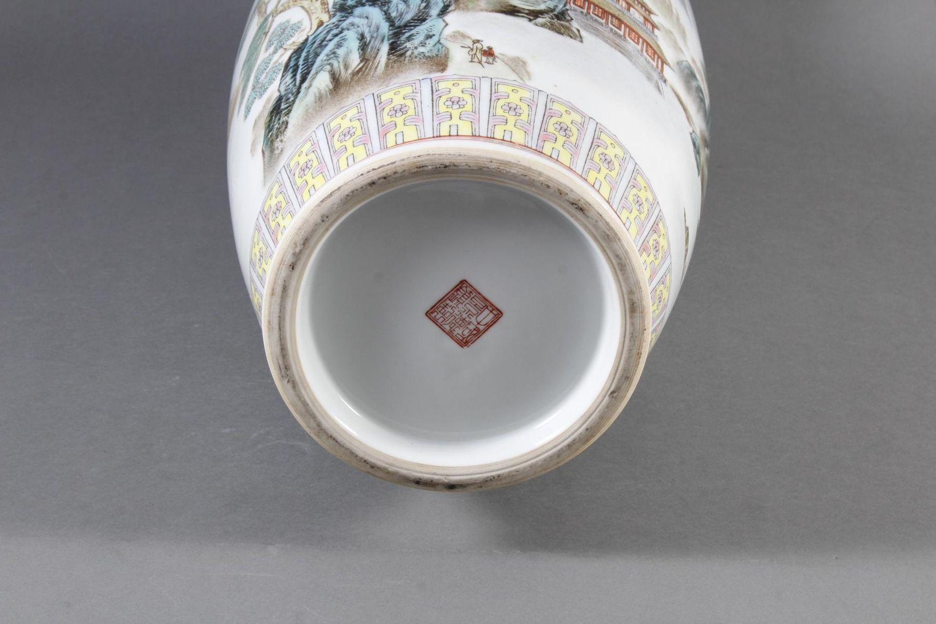 Porzellan Bodenvase, China 20. Jahrhundert - Bild 11 aus 12