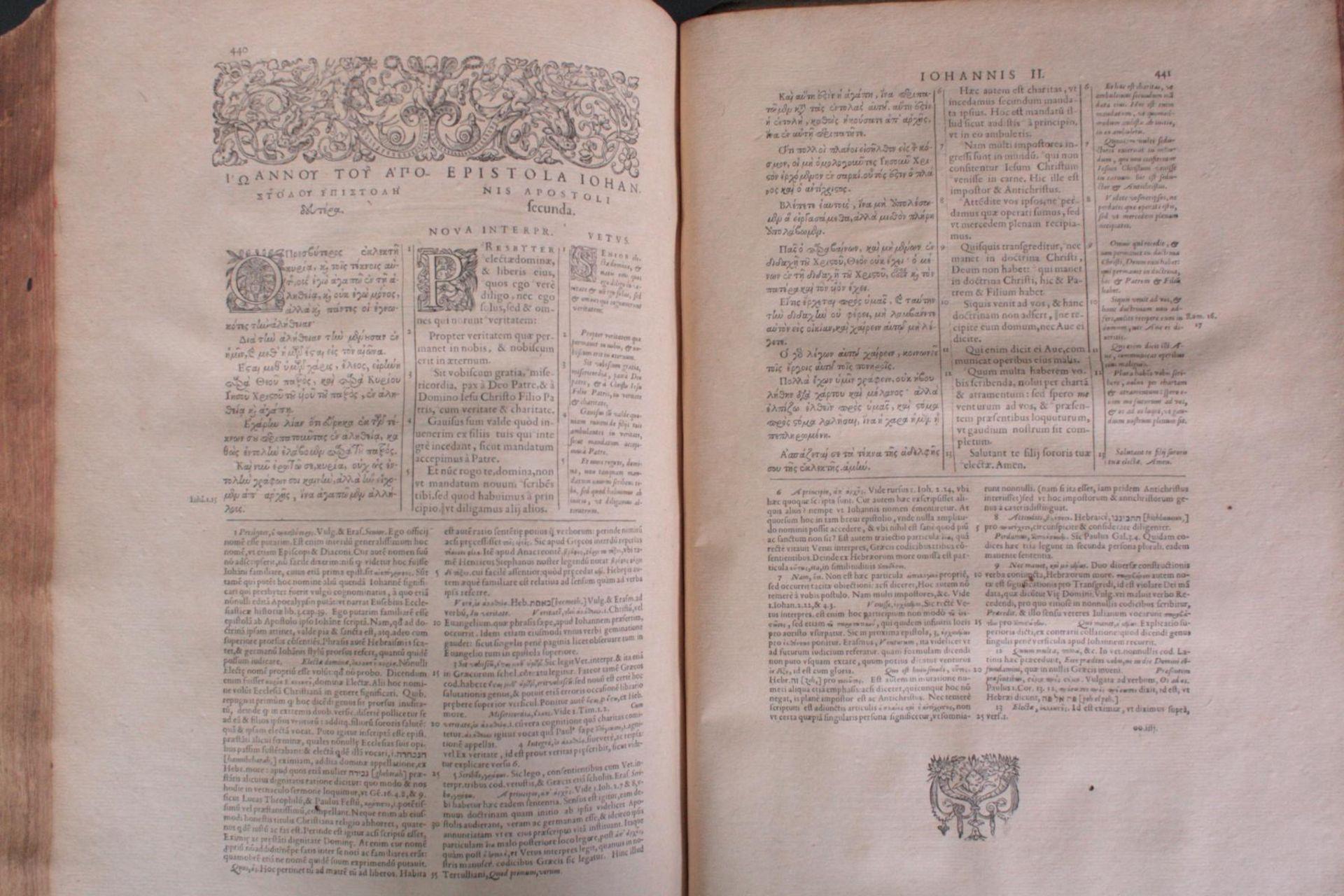 Griechische-Lateinische Bibel, Novum Testamentum 1582 - Bild 18 aus 23