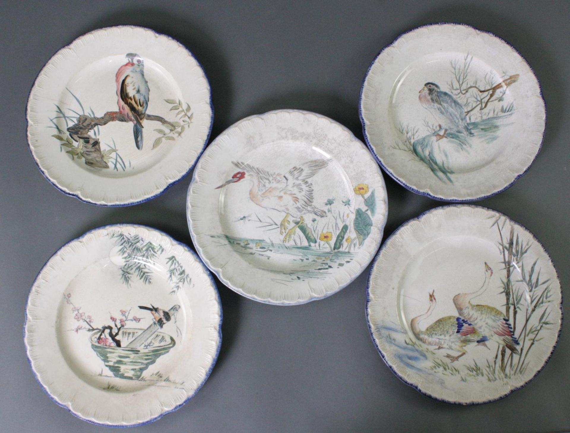 5 Keramikteller, Escalier de Cristal Paris