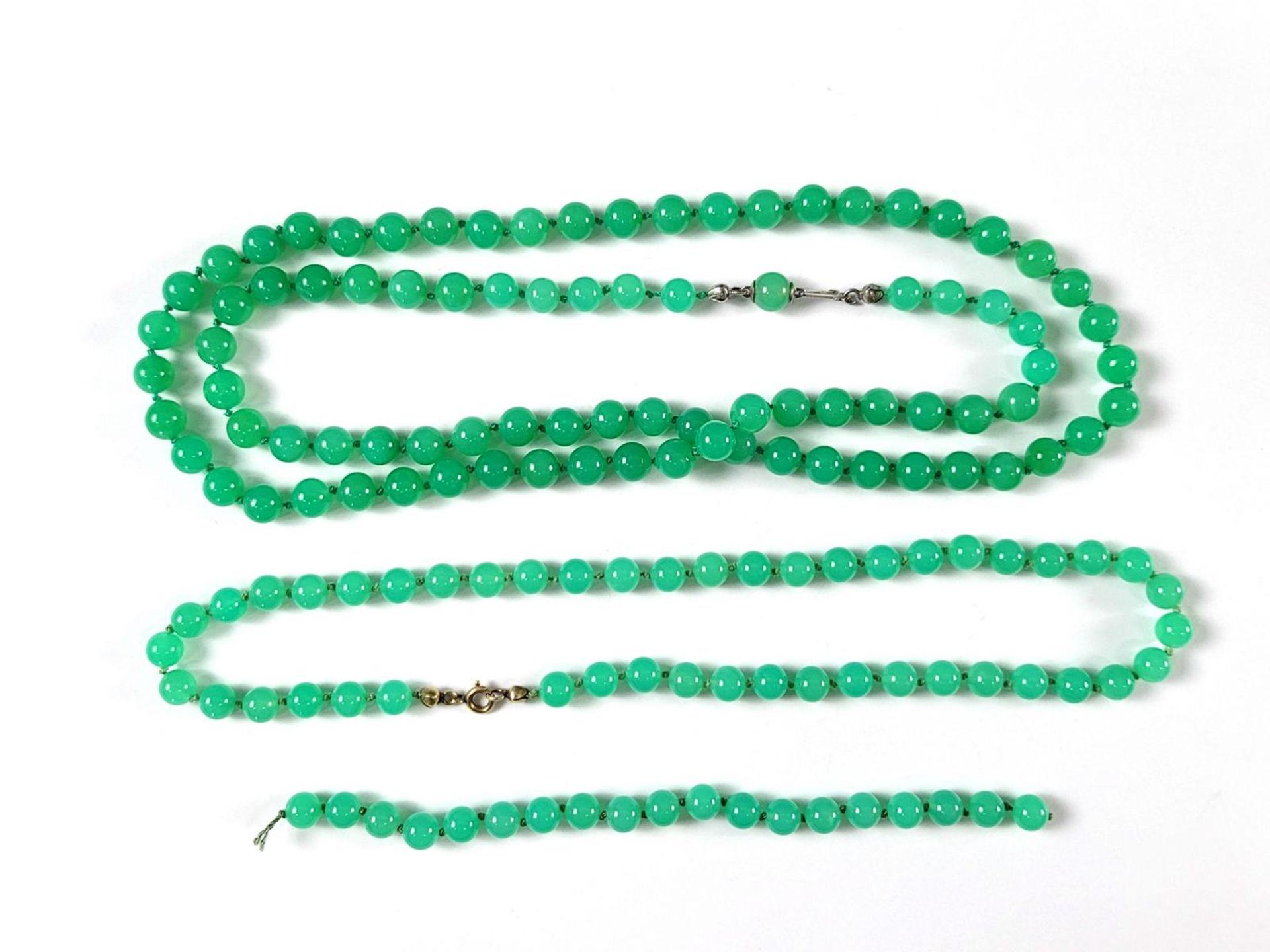Chrisopras Halsketten - Bild 2 aus 2