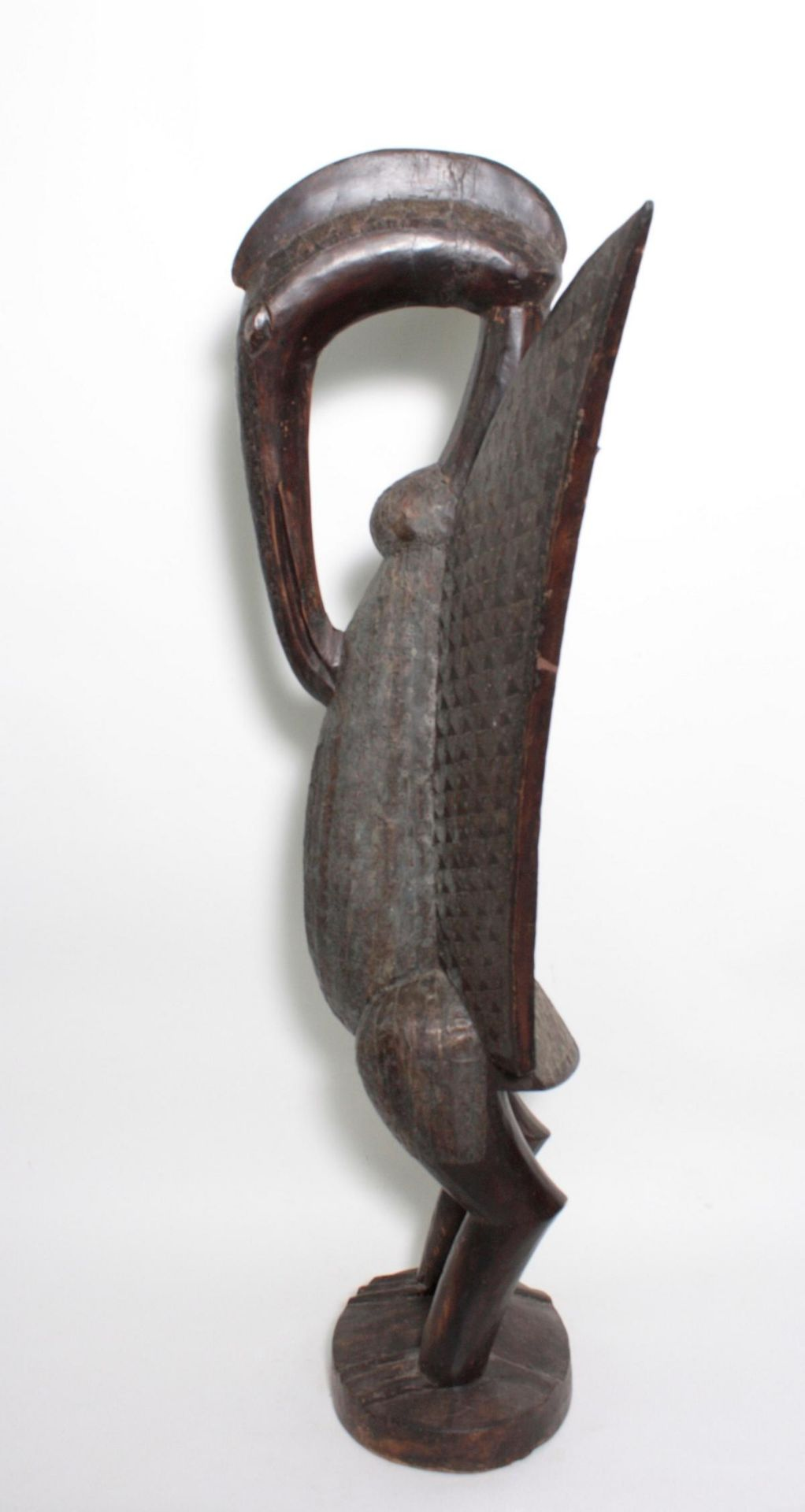 """Imposante Vogelfigur, """"Calao"""", Senufo, Elfenbeinküste, 1. Hälfte 20. Jh. - Bild 5 aus 5"""