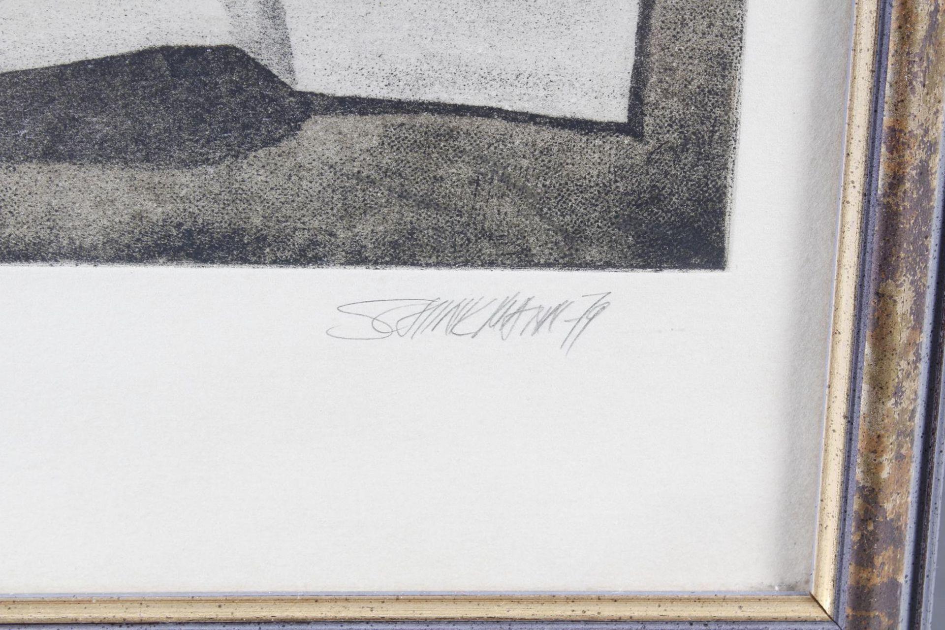 Radierung, Großes-Atelier-Stilleben, Schinkmann 1979 - Bild 4 aus 5