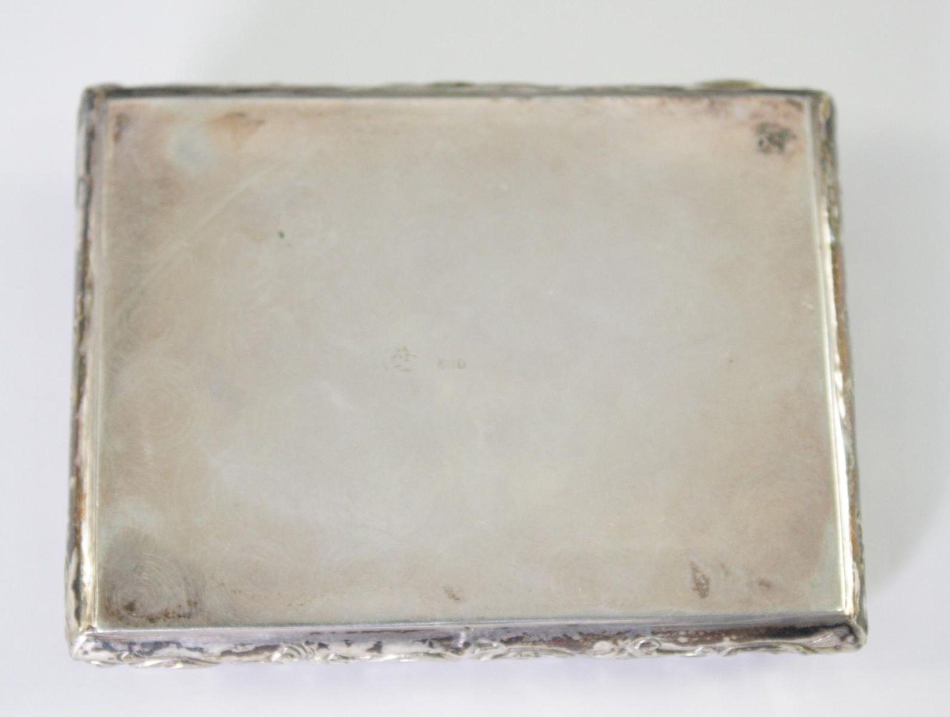 Silberne Deckeldose 800er Silber um 1900 - Bild 2 aus 4