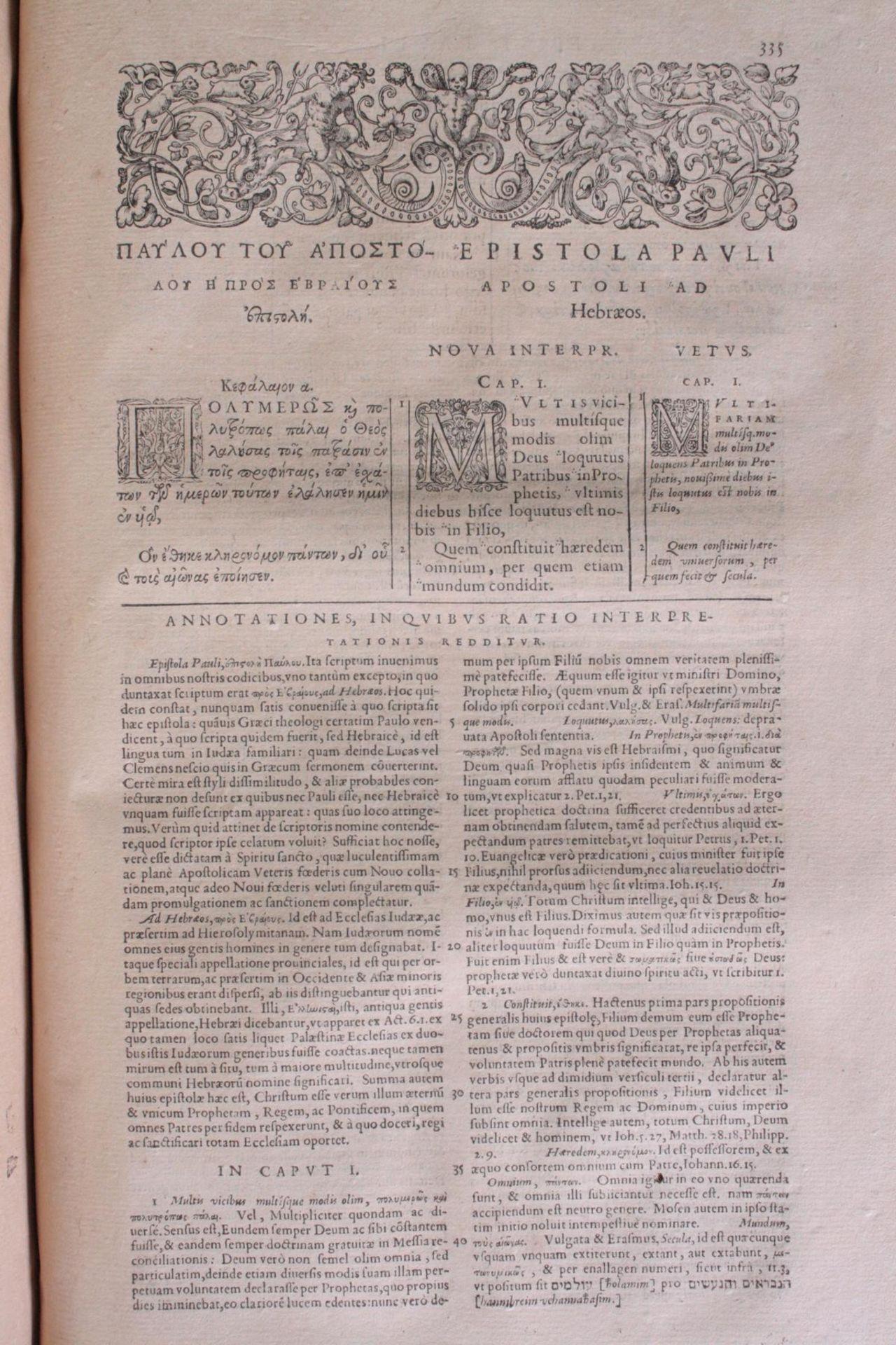 Griechische-Lateinische Bibel, Novum Testamentum 1582 - Bild 15 aus 23
