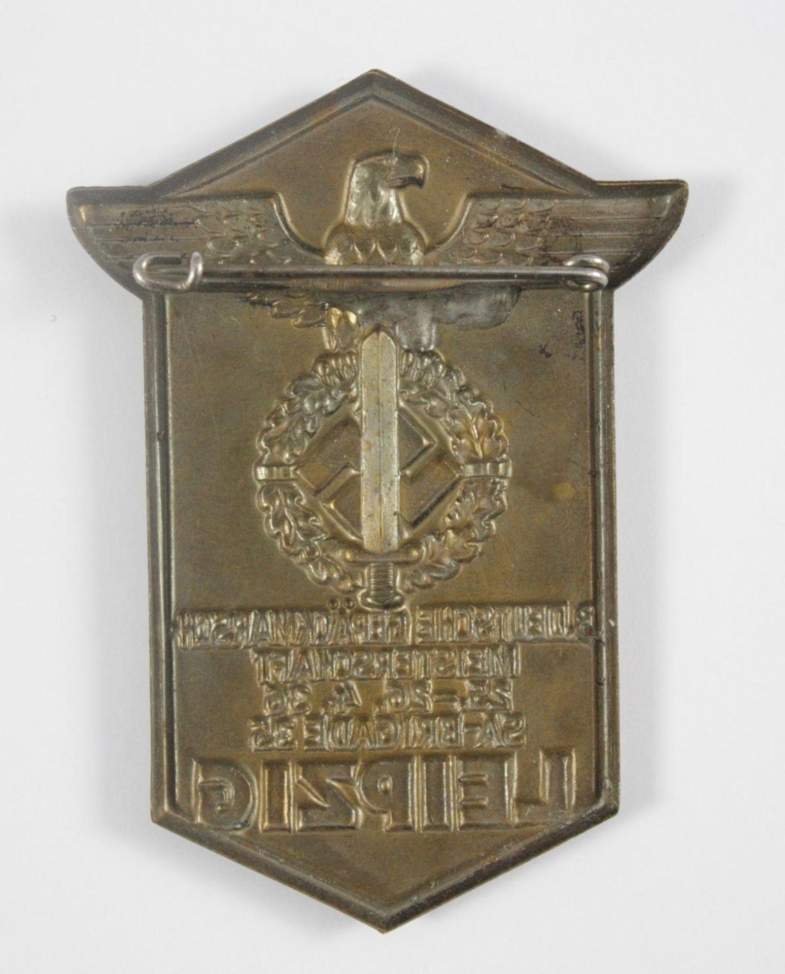Abzeichen, 3. Deutsche Gepäckmarschmeisterschaft 1936, SA Brigade 35, Leipzig - Bild 2 aus 2