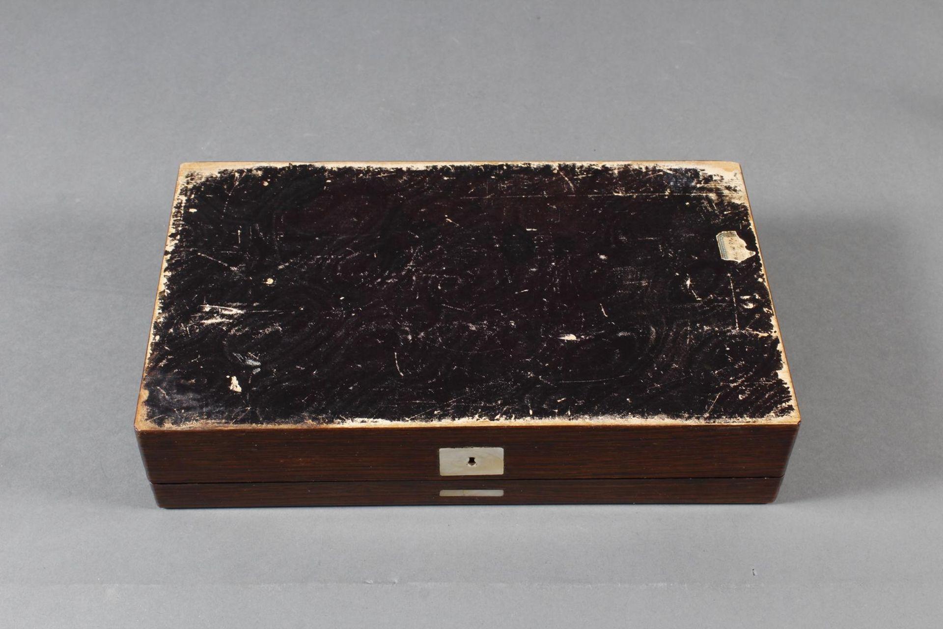 Holzschatulle, wohl deutsch, Mitte 19. Jahrhundert - Bild 5 aus 5