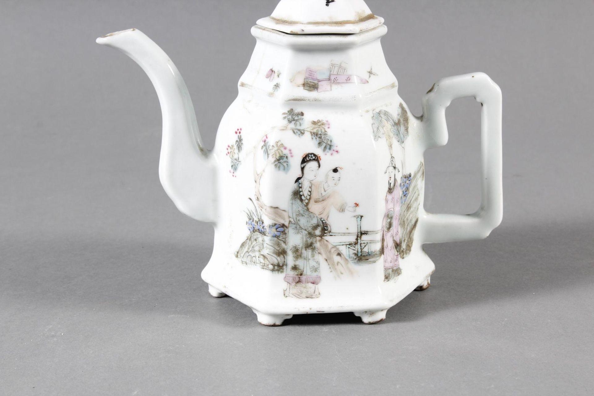 Porzellan Teekann, China, 19. Jahrhundert - Bild 2 aus 15