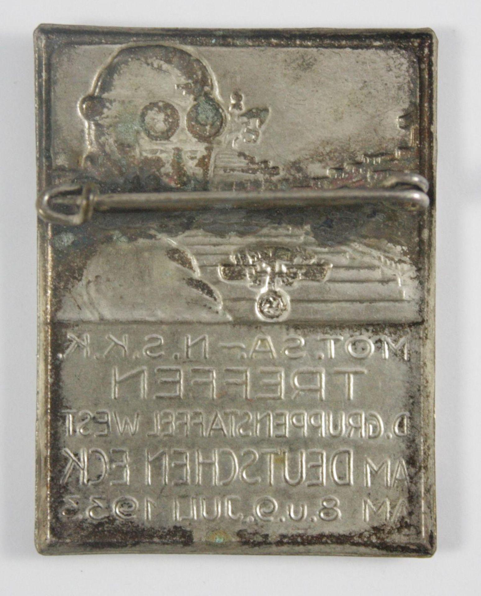 Abzeichen: Motorisierte SA-NSKK Treffen am Deutschen Eck 1933 - Bild 2 aus 2